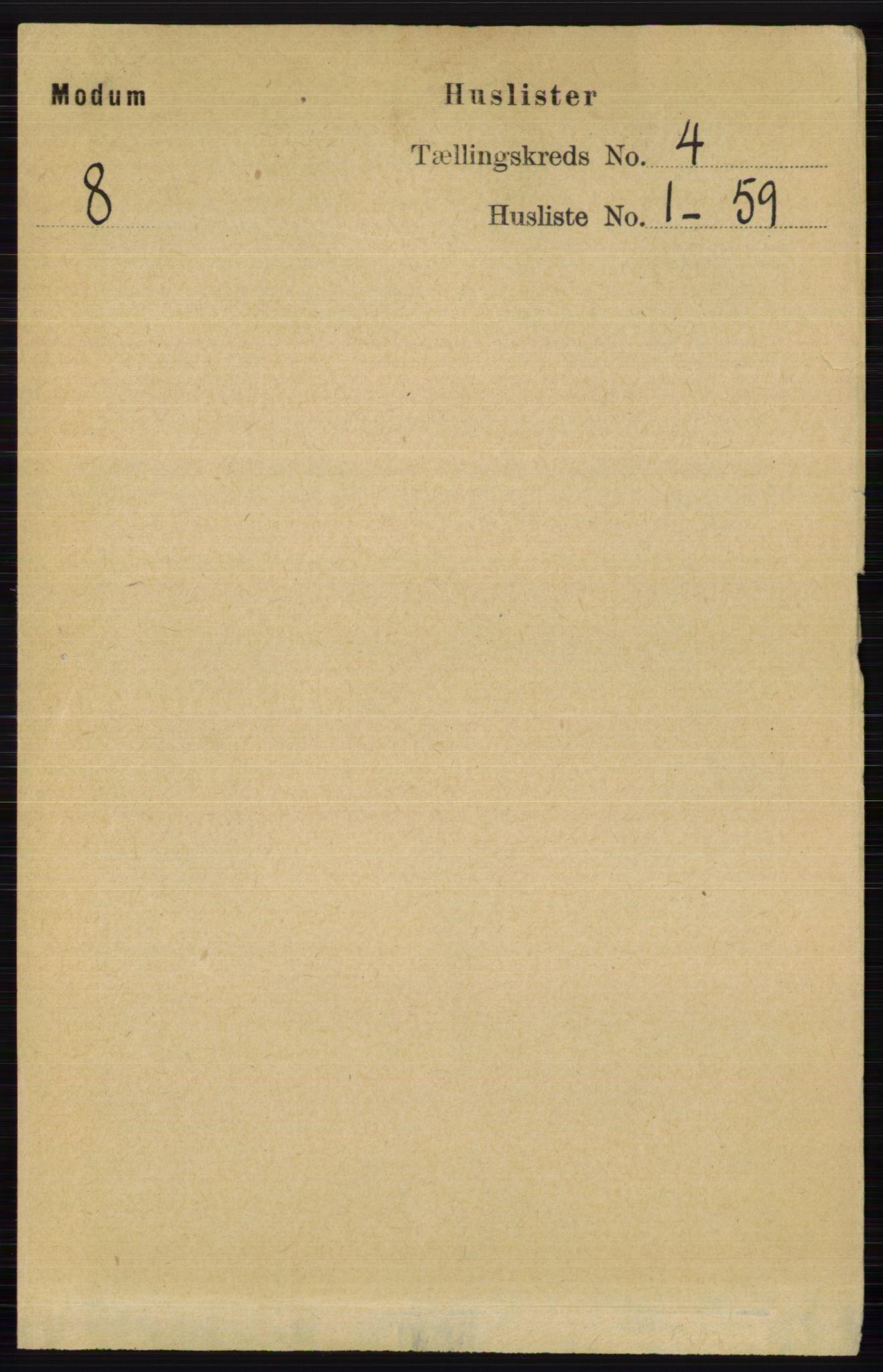 RA, Folketelling 1891 for 0623 Modum herred, 1891, s. 925