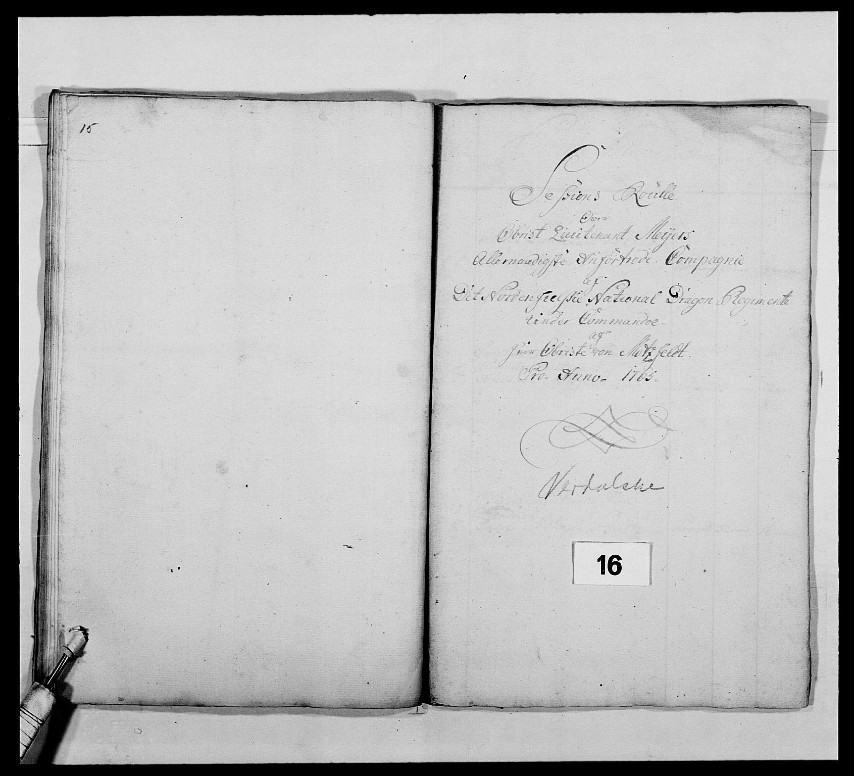 RA, Kommanderende general (KG I) med Det norske krigsdirektorium, E/Ea/L0483: Nordafjelske dragonregiment, 1765-1767, s. 369