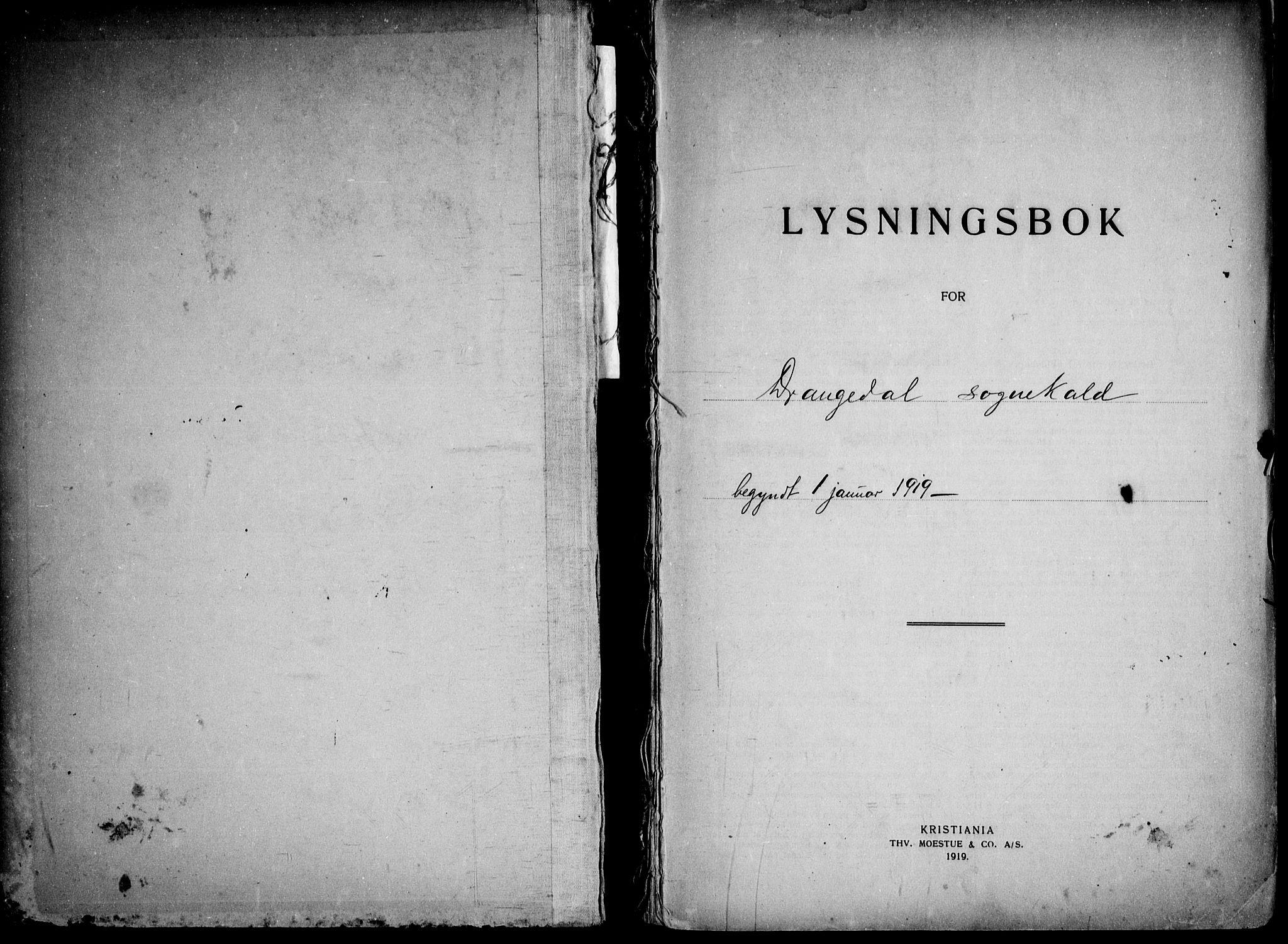 SAKO, Drangedal kirkebøker, H/Ha/L0001: Lysningsprotokoll nr. 1, 1919-1952