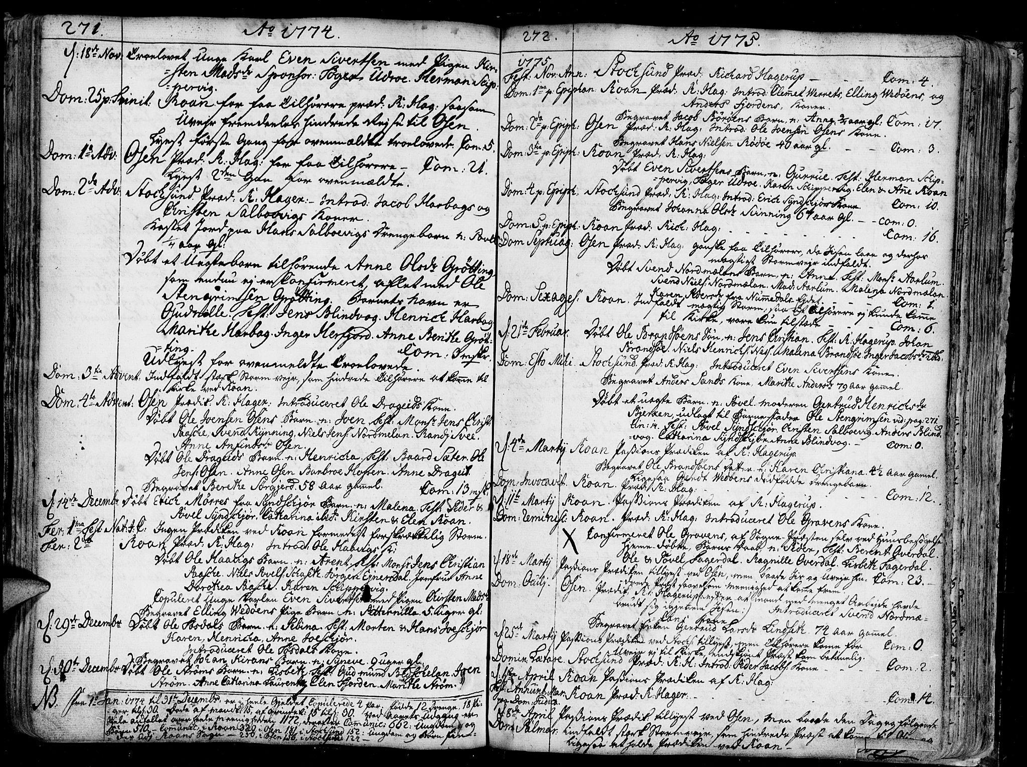 SAT, Ministerialprotokoller, klokkerbøker og fødselsregistre - Sør-Trøndelag, 657/L0700: Ministerialbok nr. 657A01, 1732-1801, s. 271-272