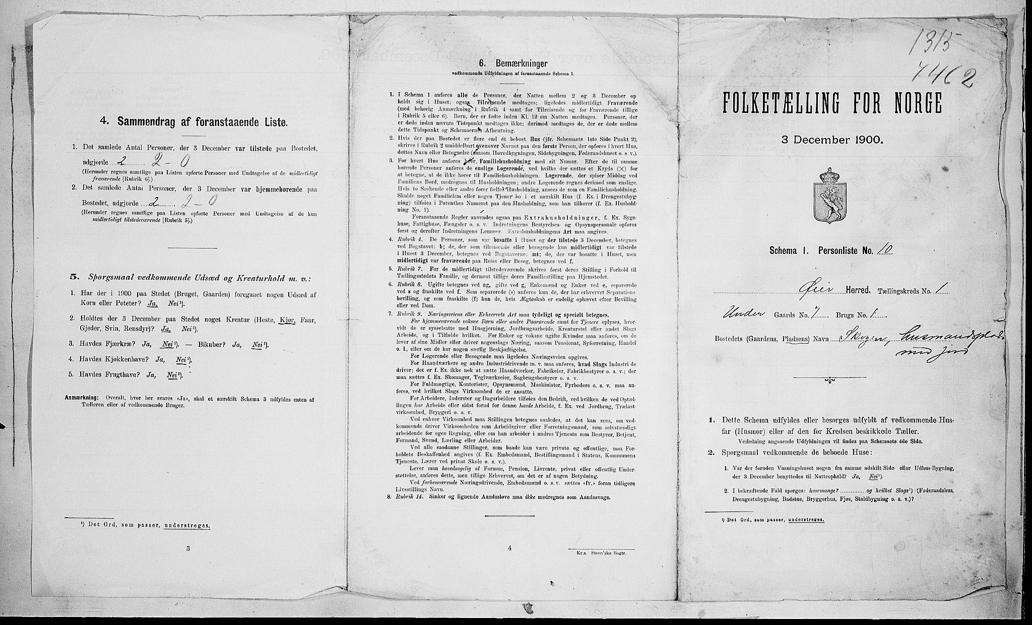 SAH, Folketelling 1900 for 0521 Øyer herred, 1900, s. 32