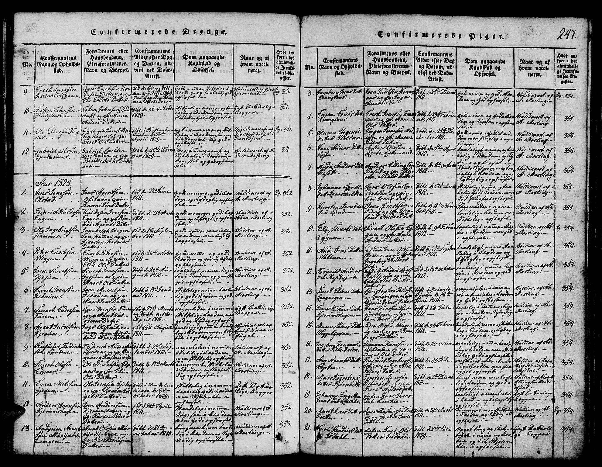 SAT, Ministerialprotokoller, klokkerbøker og fødselsregistre - Sør-Trøndelag, 665/L0776: Klokkerbok nr. 665C01, 1817-1837, s. 247