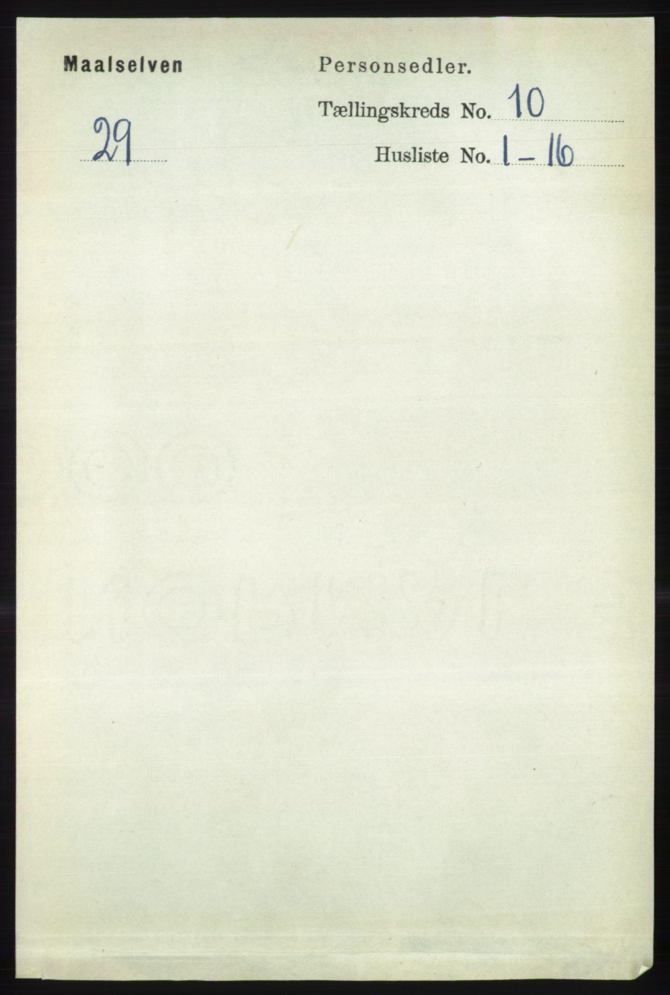 RA, Folketelling 1891 for 1924 Målselv herred, 1891, s. 2984