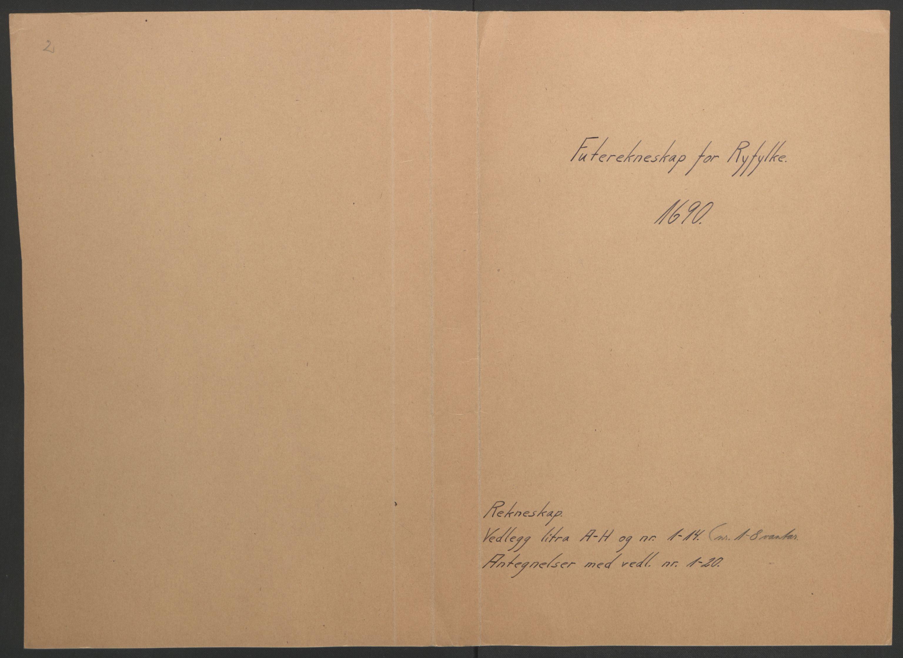 RA, Rentekammeret inntil 1814, Reviderte regnskaper, Fogderegnskap, R47/L2856: Fogderegnskap Ryfylke, 1689-1693, s. 150