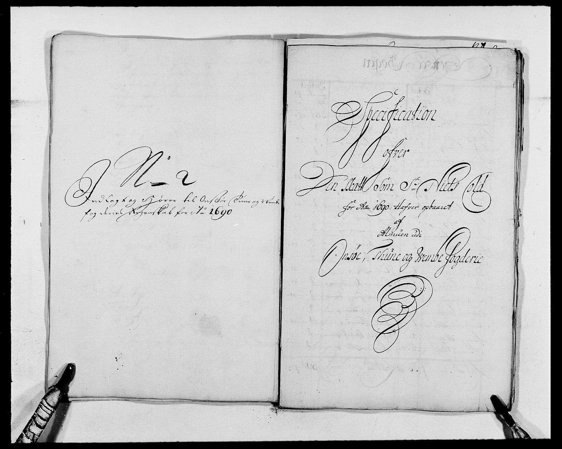 RA, Rentekammeret inntil 1814, Reviderte regnskaper, Fogderegnskap, R03/L0119: Fogderegnskap Onsøy, Tune, Veme og Åbygge fogderi, 1690-1691, s. 177