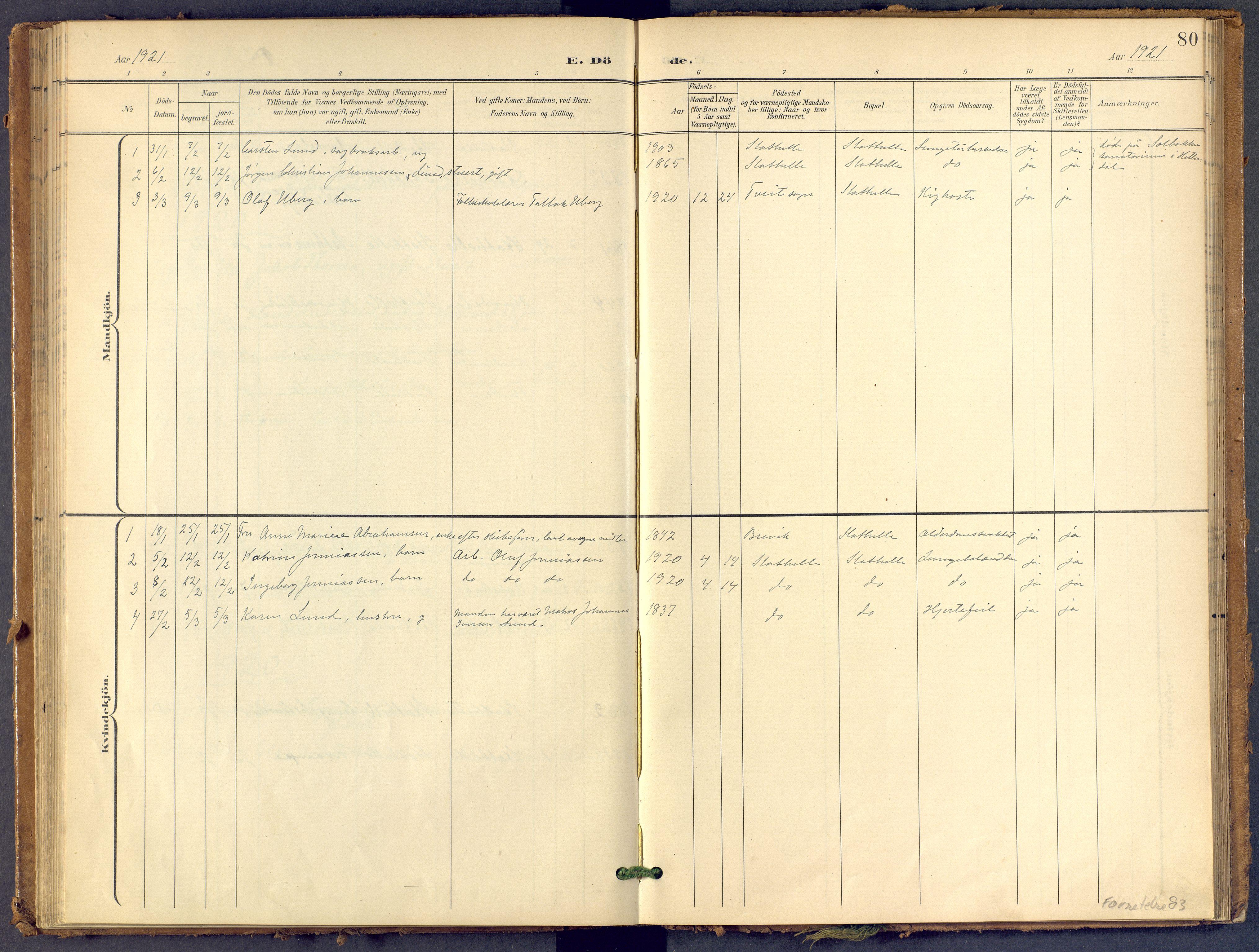 SAKO, Bamble kirkebøker, F/Fb/L0002: Ministerialbok nr. II 2, 1900-1921, s. 80