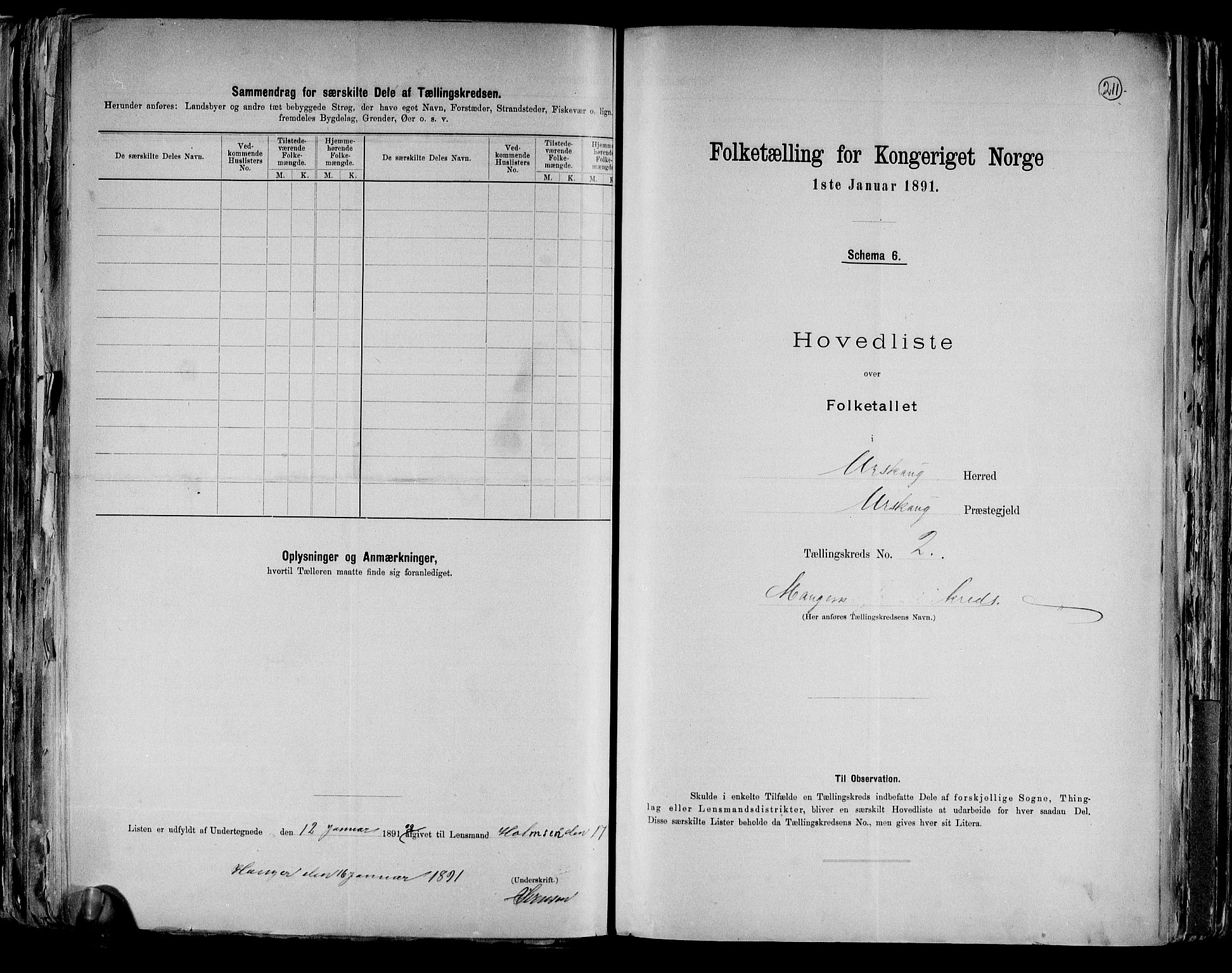 RA, Folketelling 1891 for 0224 Aurskog herred, 1891, s. 8