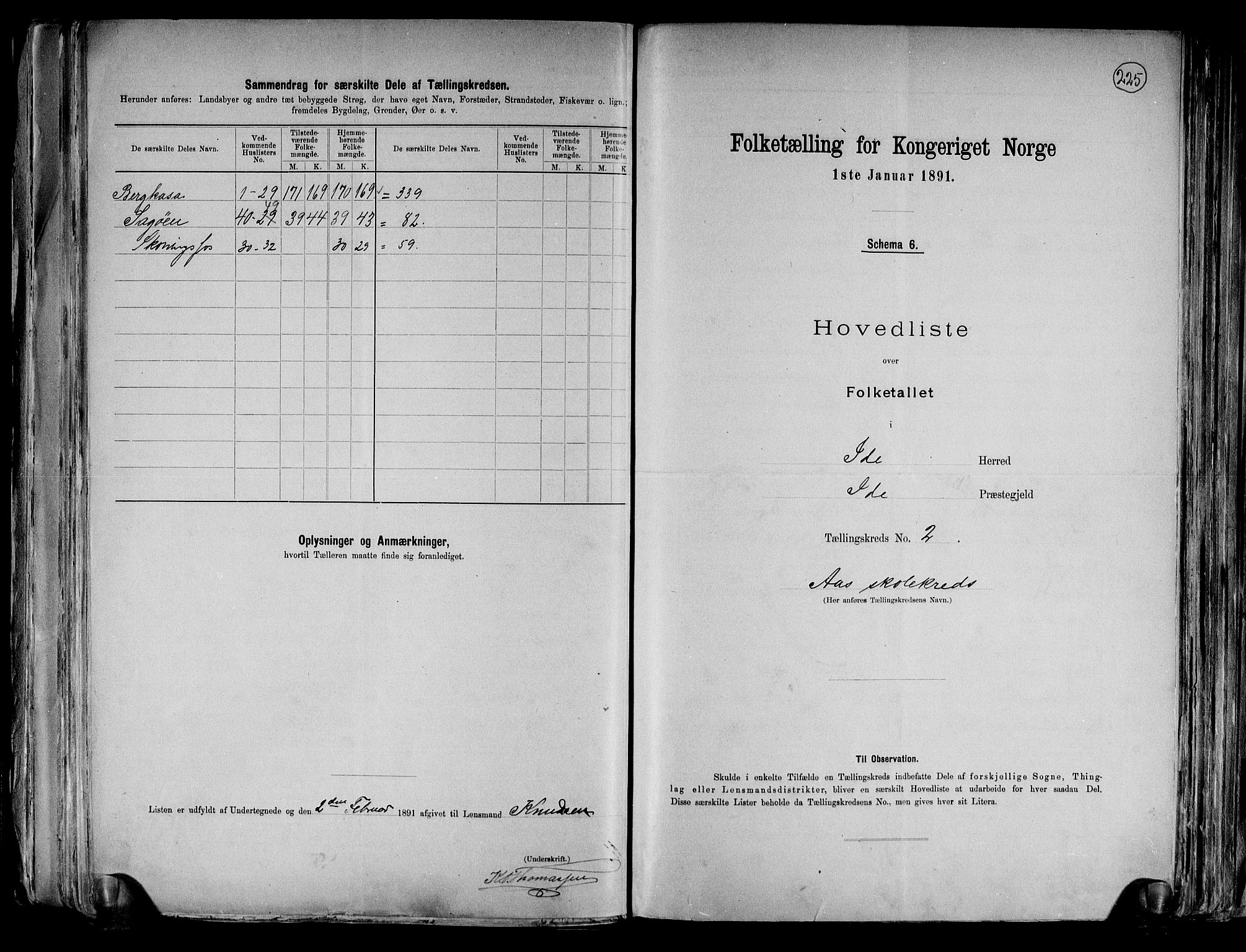 RA, Folketelling 1891 for 0117 Idd herred, 1891, s. 6