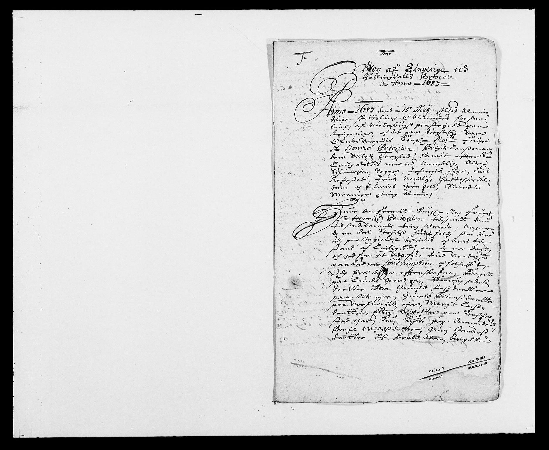 RA, Rentekammeret inntil 1814, Reviderte regnskaper, Fogderegnskap, R21/L1446: Fogderegnskap Ringerike og Hallingdal, 1683-1686, s. 89
