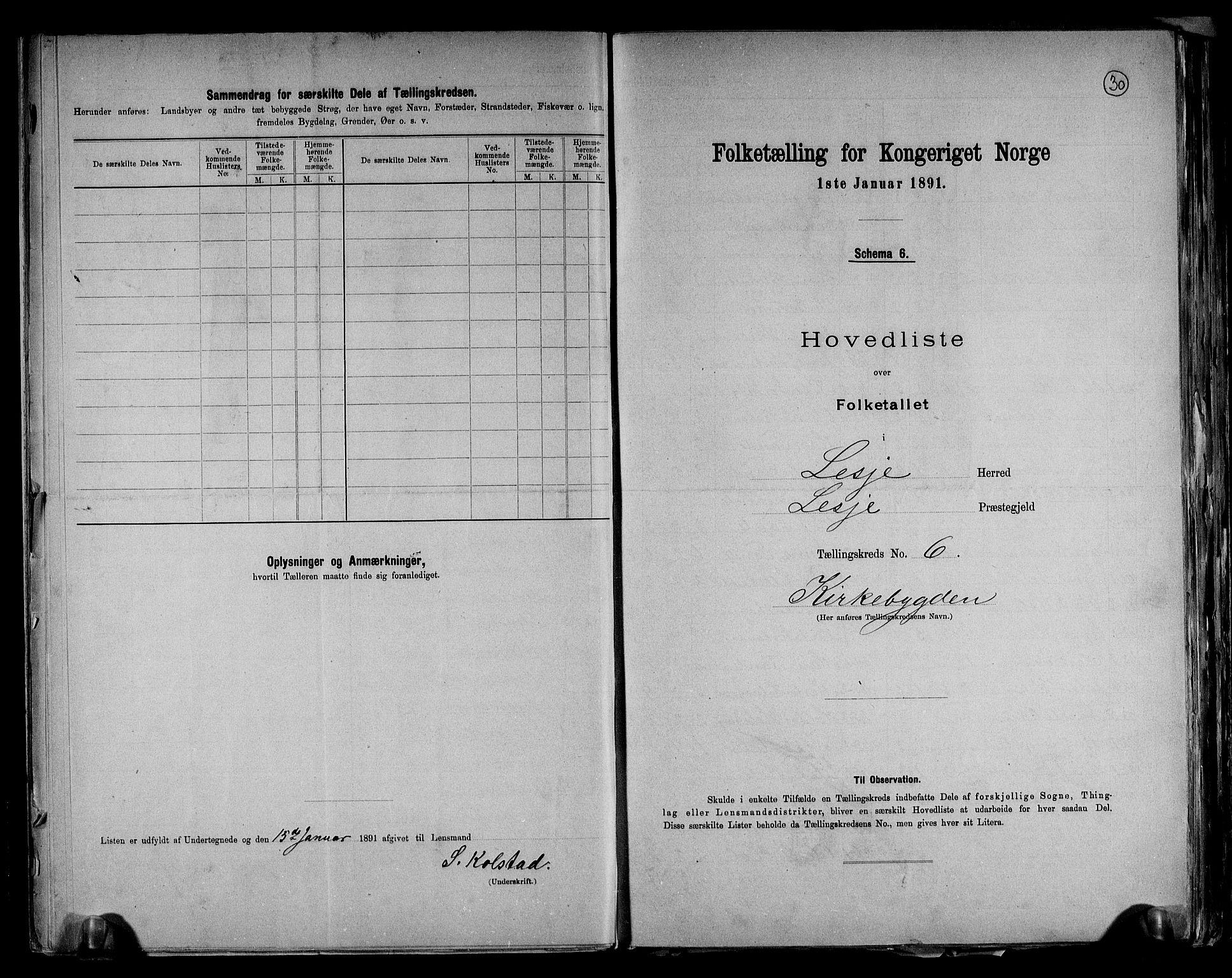 RA, Folketelling 1891 for 0512 Lesja herred, 1891, s. 15