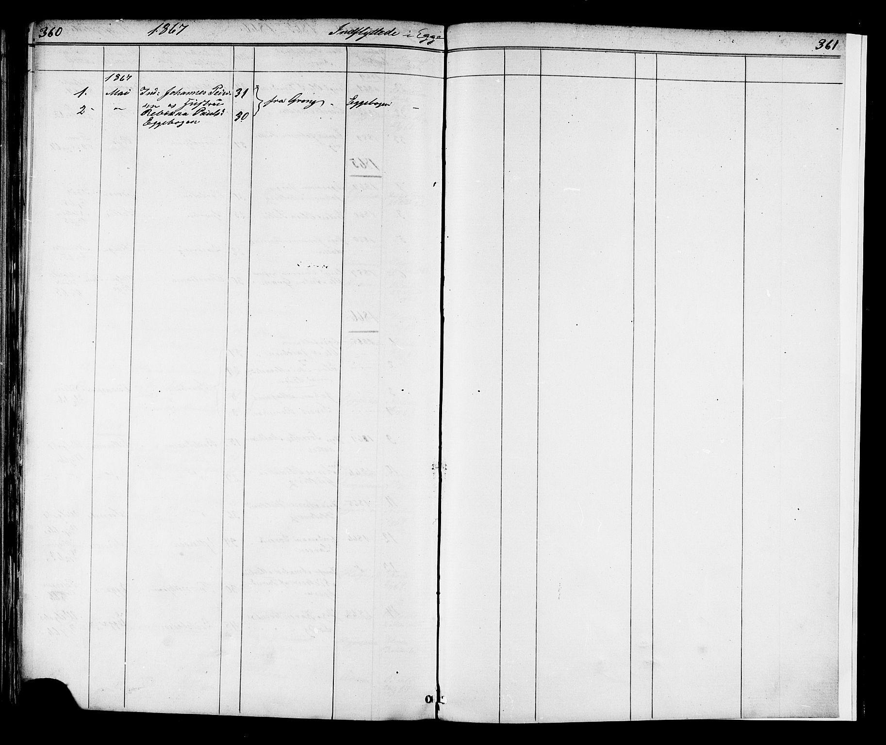 SAT, Ministerialprotokoller, klokkerbøker og fødselsregistre - Nord-Trøndelag, 739/L0367: Ministerialbok nr. 739A01 /3, 1838-1868, s. 360-361
