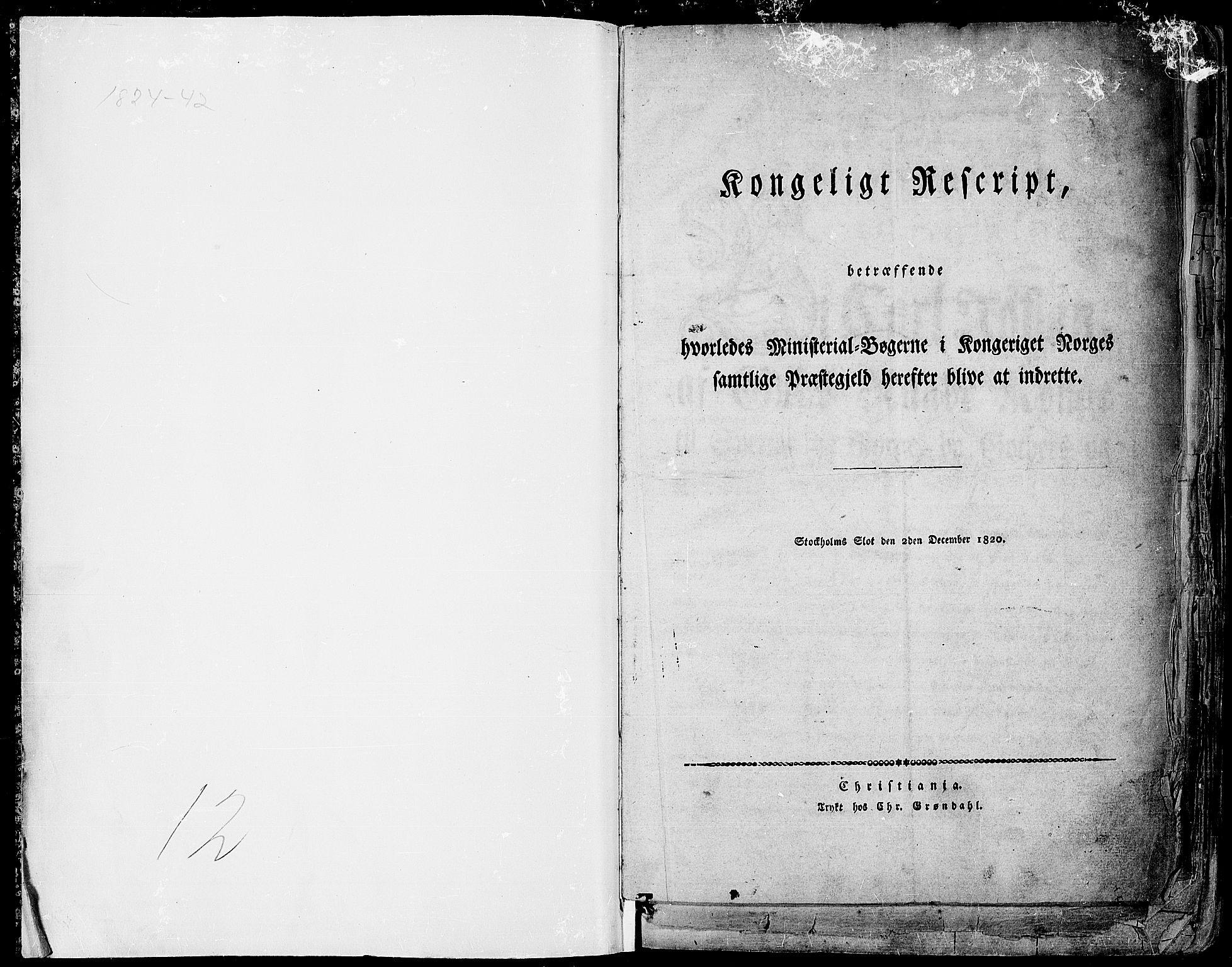 SAH, Gran prestekontor, Ministerialbok nr. 10, 1824-1842