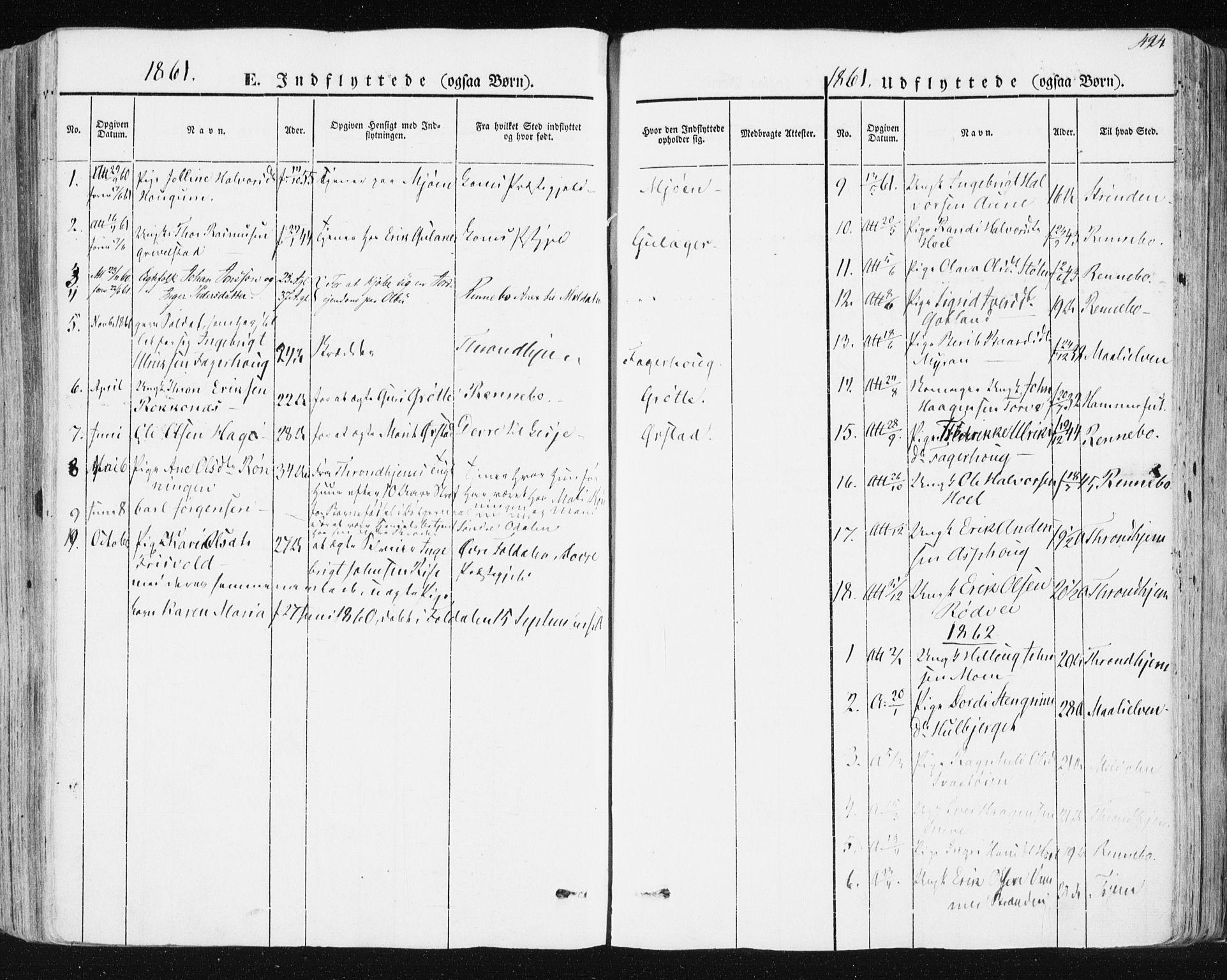 SAT, Ministerialprotokoller, klokkerbøker og fødselsregistre - Sør-Trøndelag, 678/L0899: Ministerialbok nr. 678A08, 1848-1872, s. 494