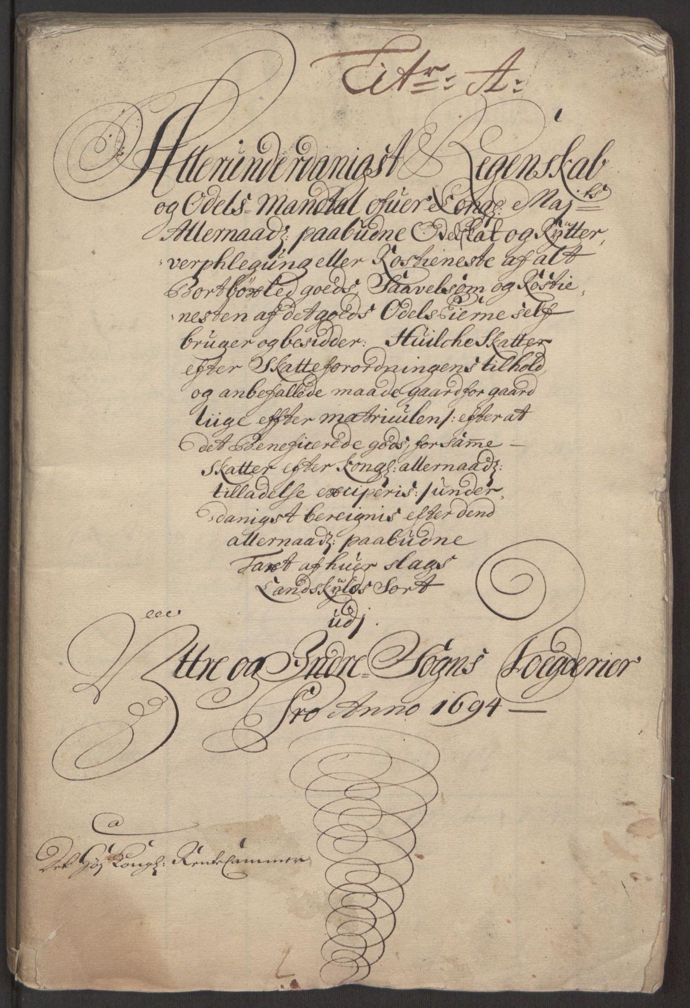 RA, Rentekammeret inntil 1814, Reviderte regnskaper, Fogderegnskap, R52/L3307: Fogderegnskap Sogn, 1693-1694, s. 269
