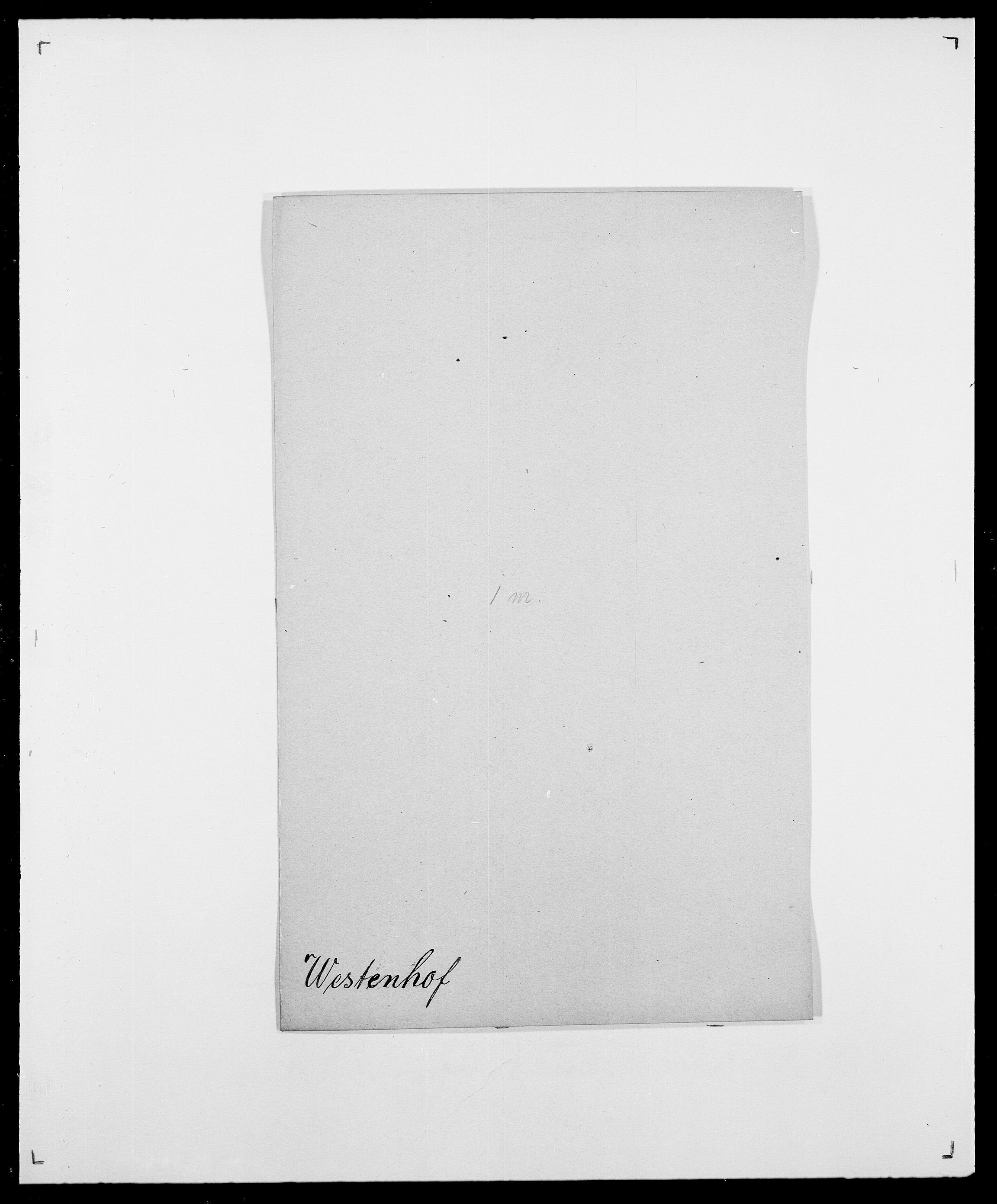 SAO, Delgobe, Charles Antoine - samling, D/Da/L0041: Vemmestad - Viker, s. 261