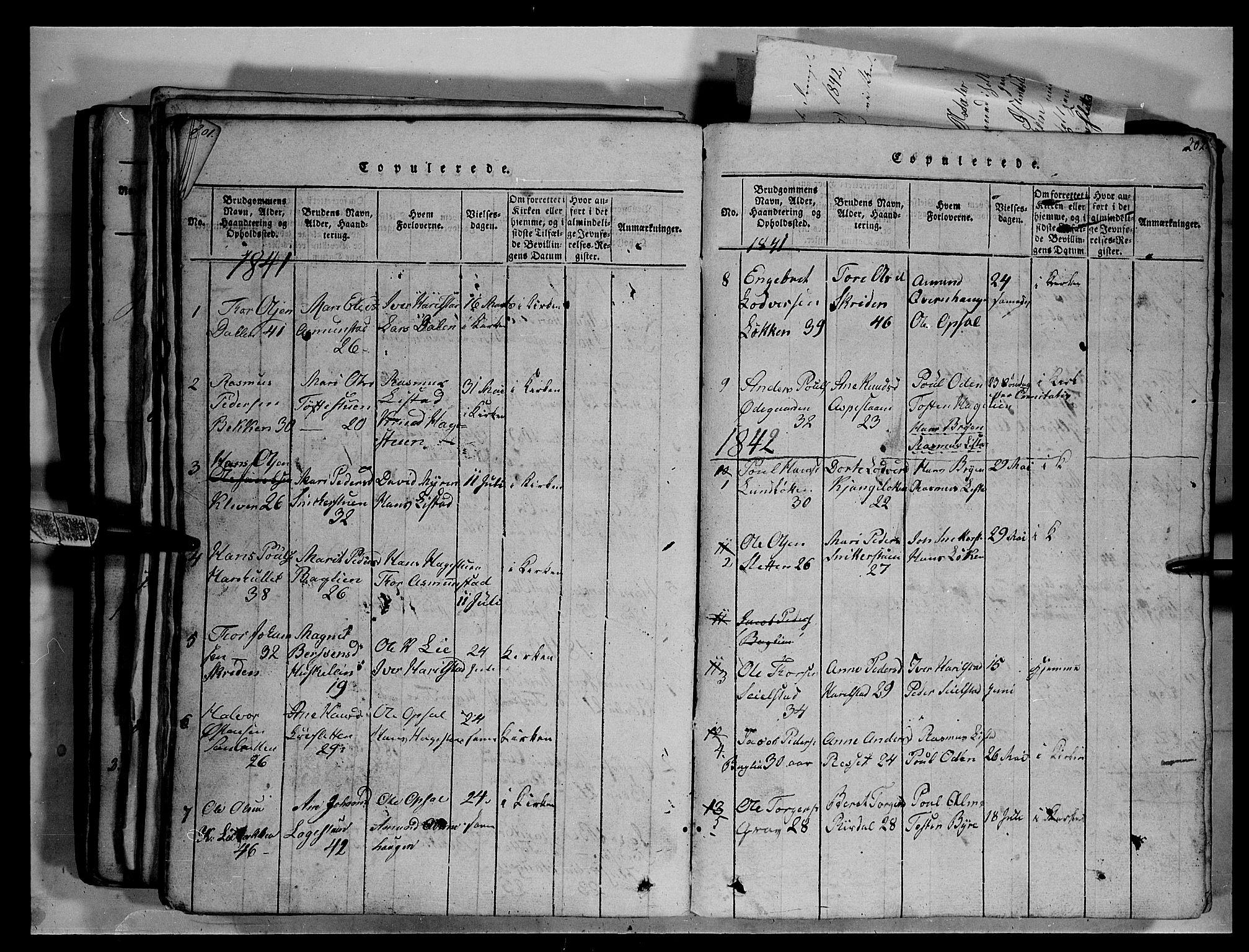 SAH, Fron prestekontor, H/Ha/Hab/L0003: Klokkerbok nr. 3, 1816-1850, s. 202