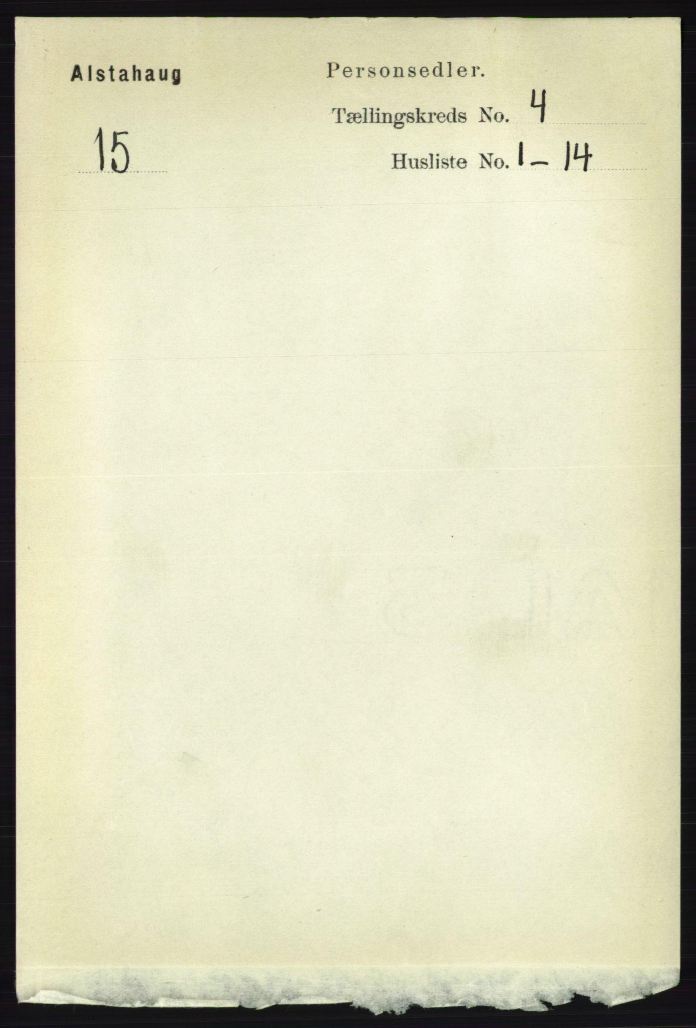 RA, Folketelling 1891 for 1820 Alstahaug herred, 1891, s. 1496