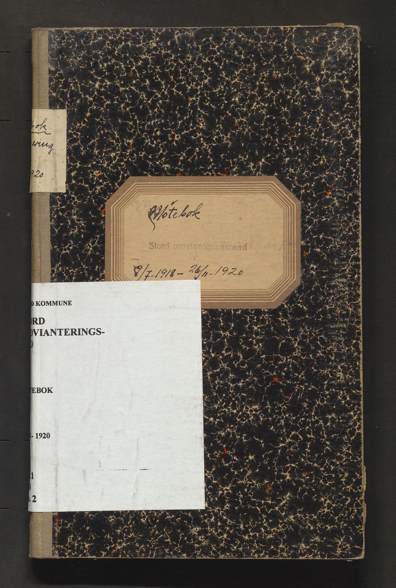 IKAH, Stord kommune. Provianteringsrådet, A/Aa/L0002: Møtebok for Stord provianteringsråd, 1918-1920