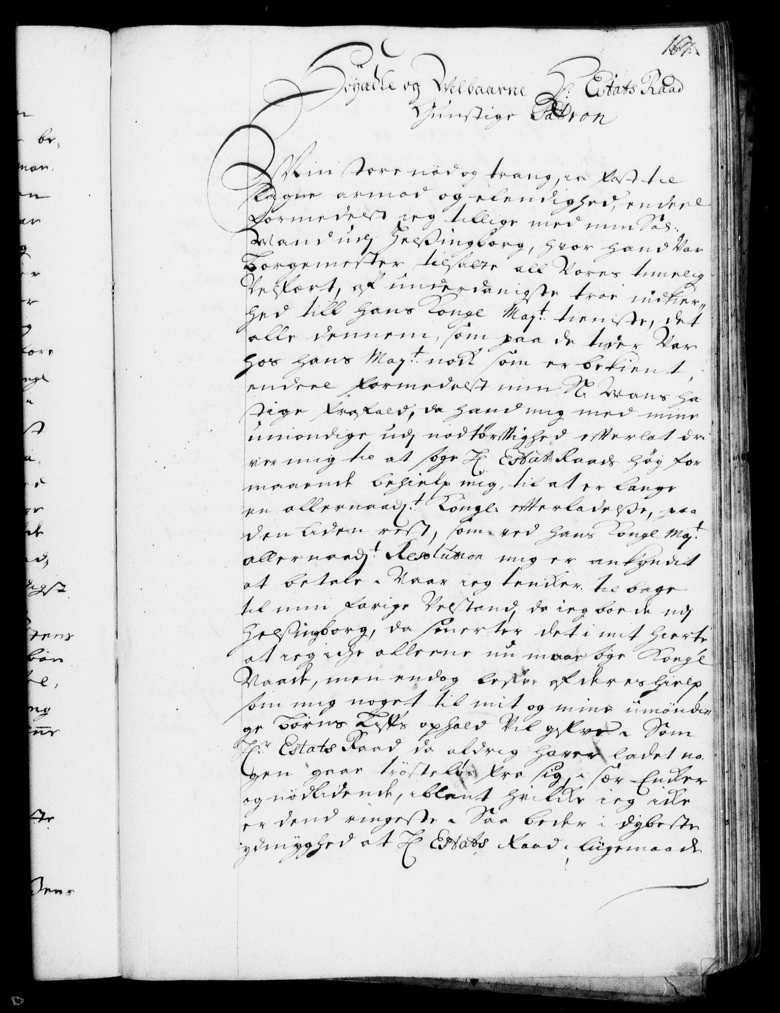 RA, Rentekammeret, Kammerkanselliet, G/Gf/Gfa/L0001: Resolusjonsprotokoll med register (merket RK 52.1), 1695-1706, s. 167
