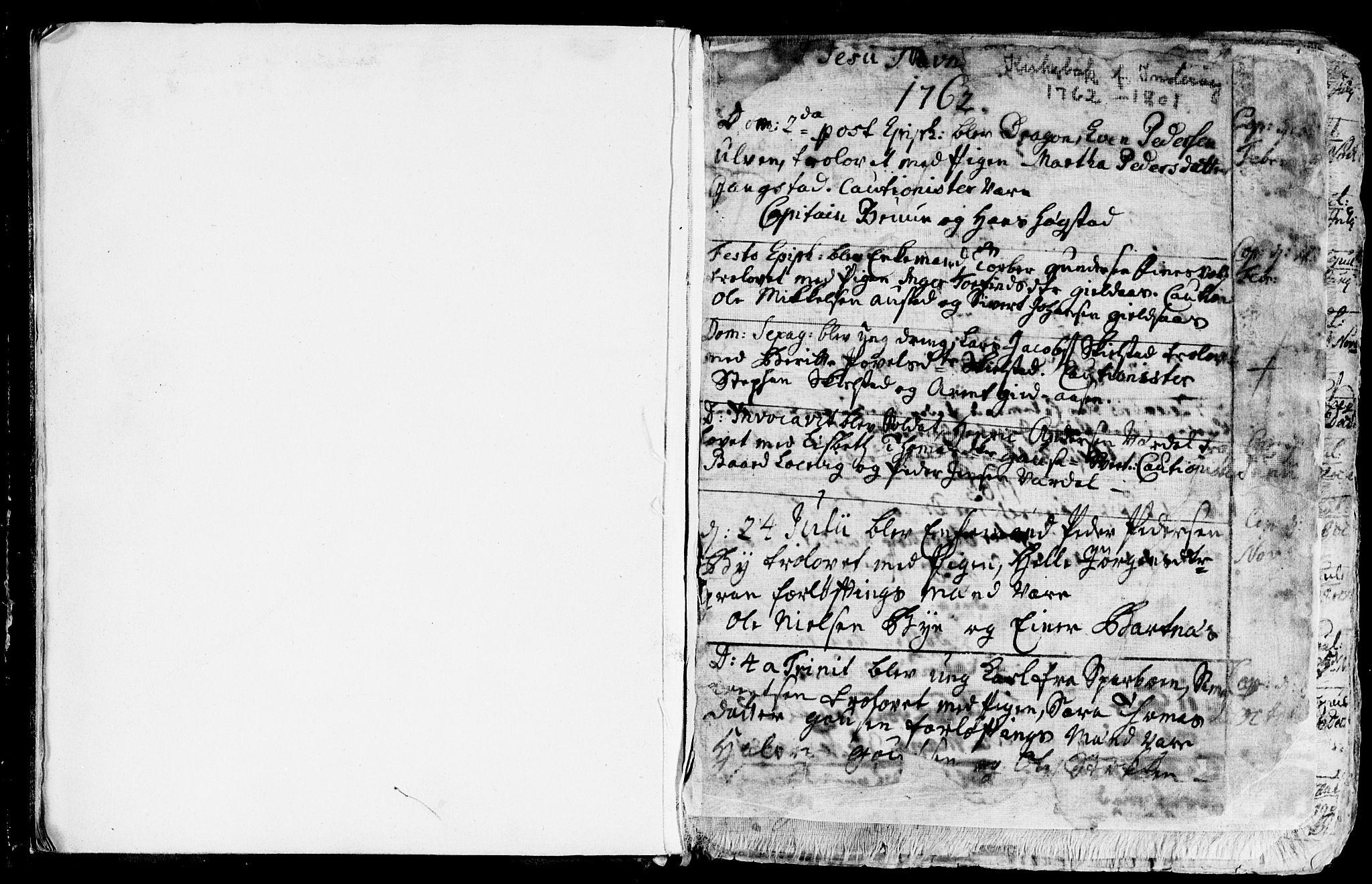 SAT, Ministerialprotokoller, klokkerbøker og fødselsregistre - Nord-Trøndelag, 730/L0273: Ministerialbok nr. 730A02, 1762-1802, s. 1