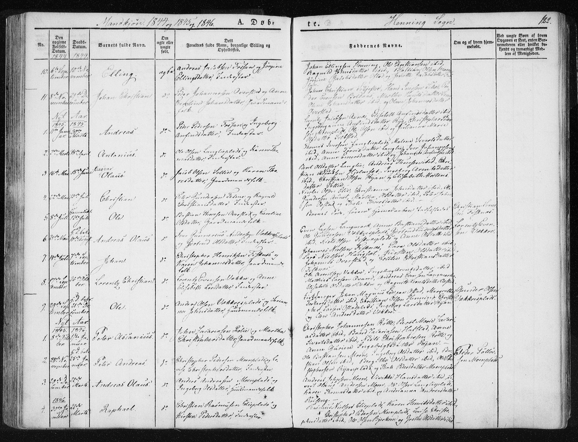 SAT, Ministerialprotokoller, klokkerbøker og fødselsregistre - Nord-Trøndelag, 735/L0339: Ministerialbok nr. 735A06 /3, 1836-1848, s. 122