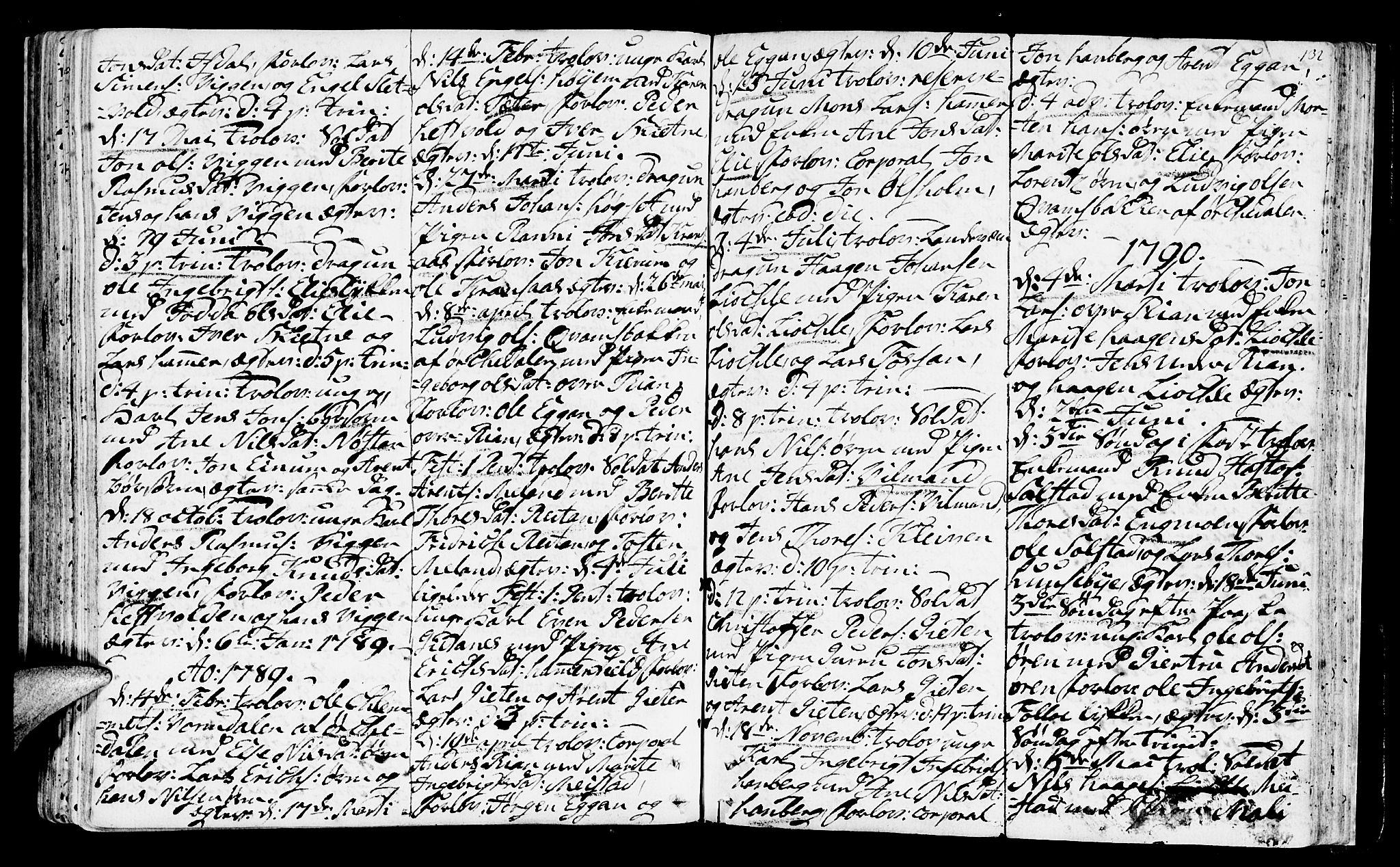 SAT, Ministerialprotokoller, klokkerbøker og fødselsregistre - Sør-Trøndelag, 665/L0768: Ministerialbok nr. 665A03, 1754-1803, s. 132