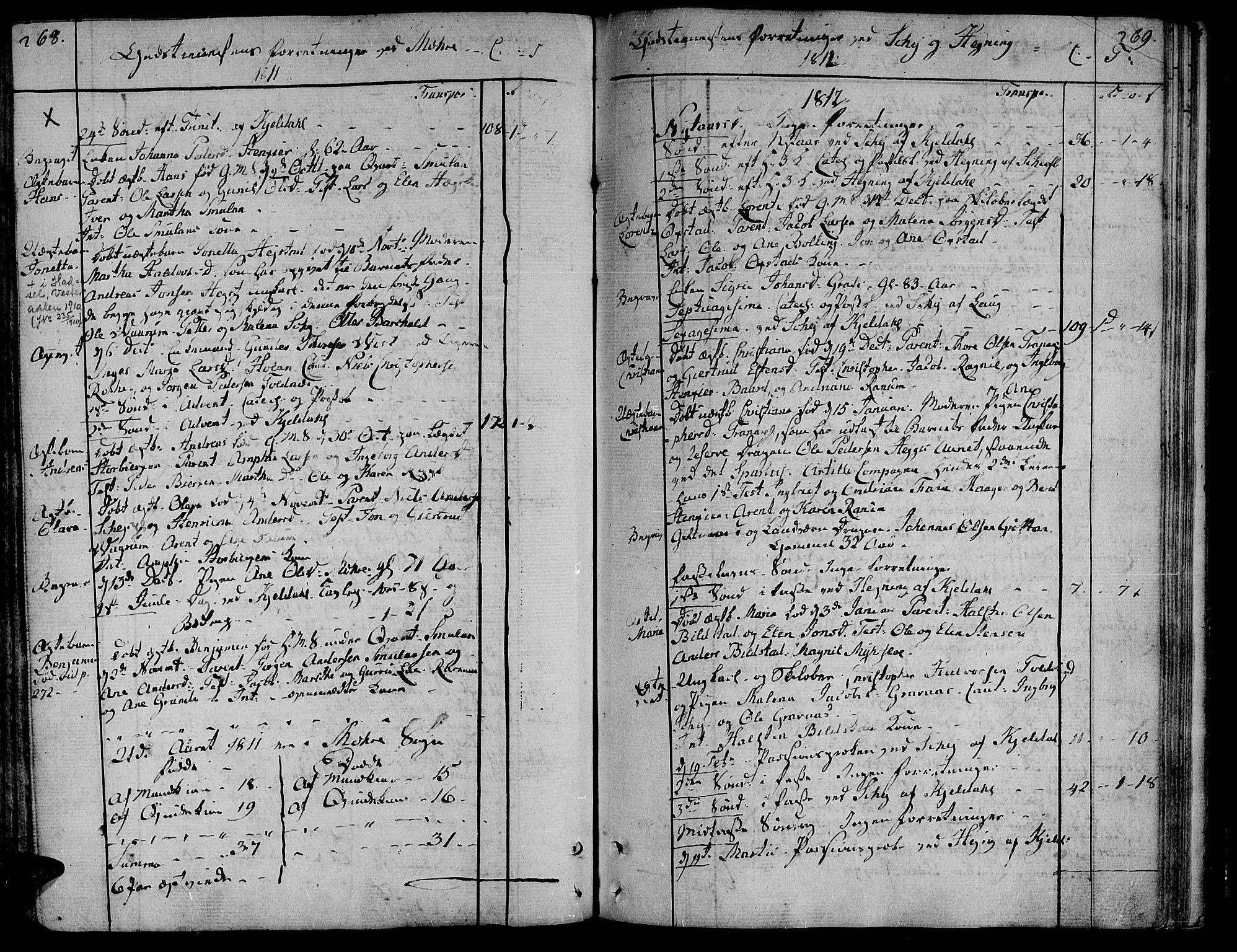 SAT, Ministerialprotokoller, klokkerbøker og fødselsregistre - Nord-Trøndelag, 735/L0332: Ministerialbok nr. 735A03, 1795-1816, s. 268-269