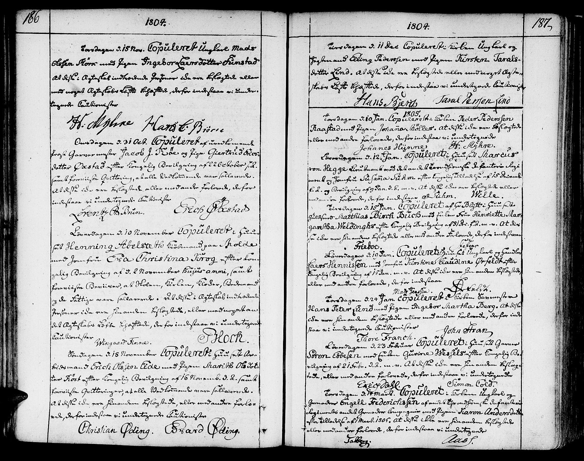 SAT, Ministerialprotokoller, klokkerbøker og fødselsregistre - Sør-Trøndelag, 602/L0105: Ministerialbok nr. 602A03, 1774-1814, s. 186-187