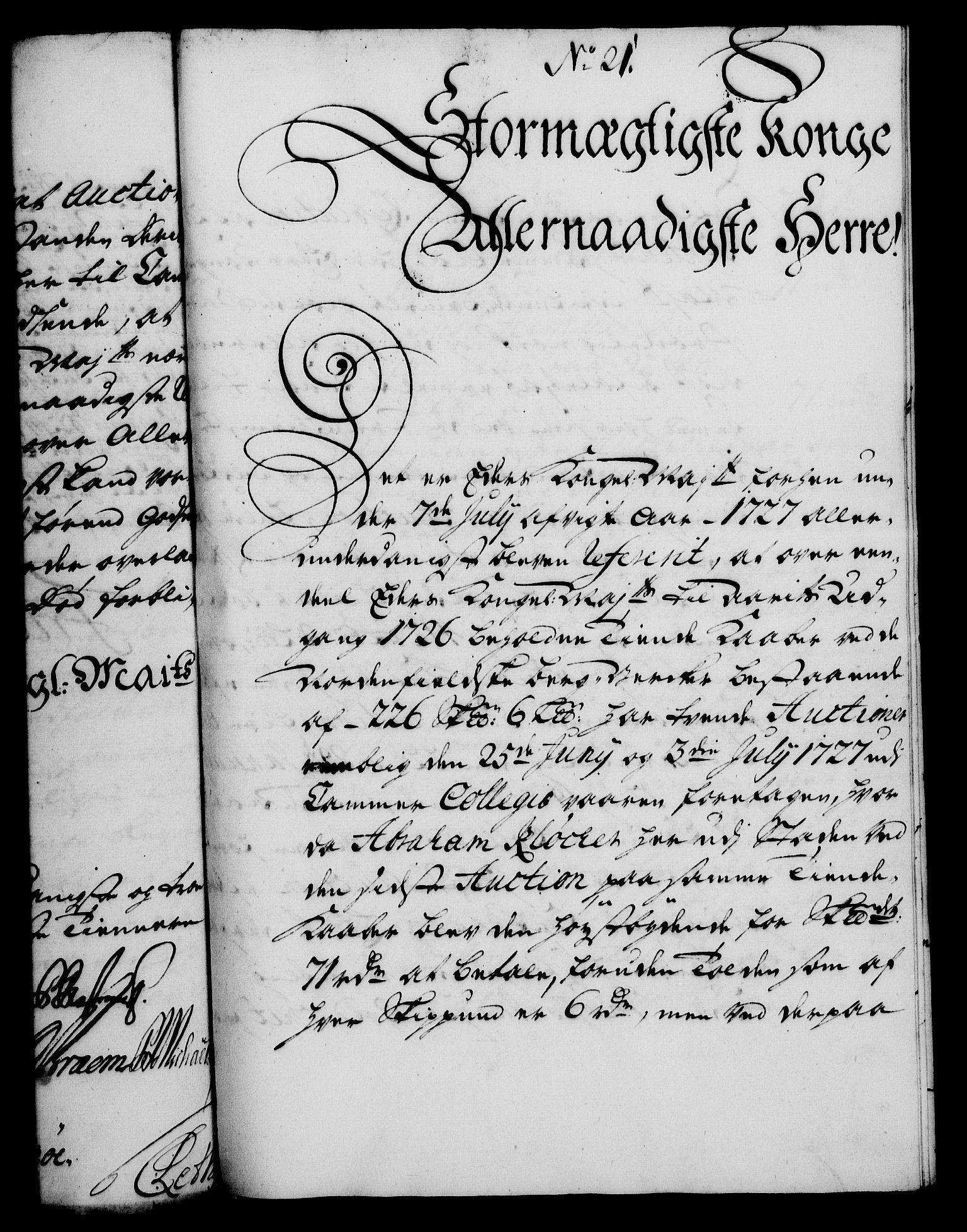 RA, Rentekammeret, Kammerkanselliet, G/Gf/Gfa/L0011: Norsk relasjons- og resolusjonsprotokoll (merket RK 52.11), 1728, s. 153