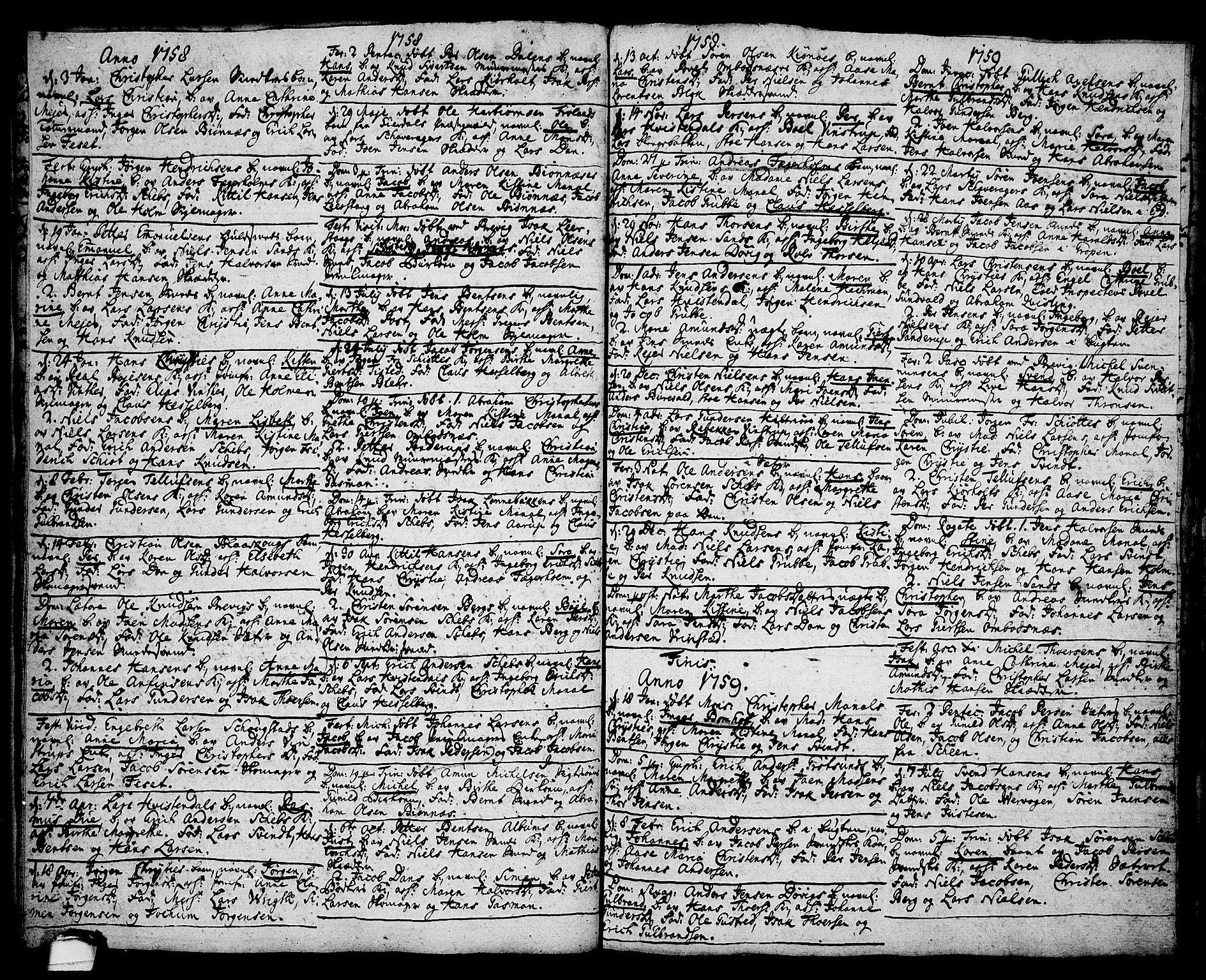 SAKO, Brevik kirkebøker, F/Fa/L0002: Ministerialbok nr. 2, 1720-1764, s. 35f