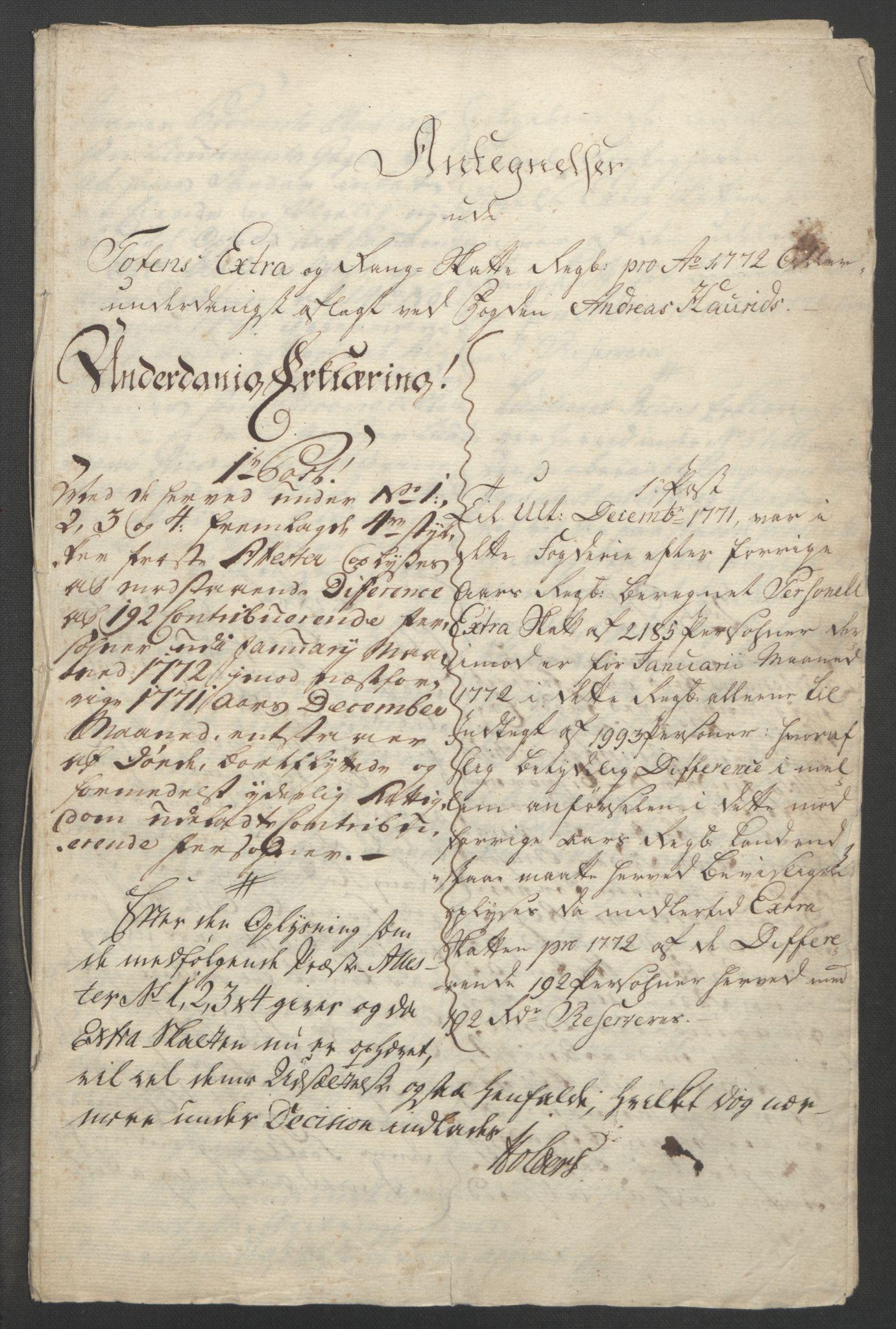 RA, Rentekammeret inntil 1814, Reviderte regnskaper, Fogderegnskap, R19/L1399: Fogderegnskap Toten, Hadeland og Vardal, 1762-1783, s. 267