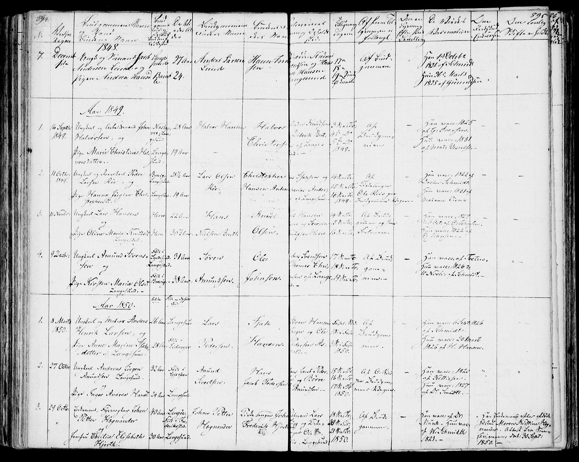 SAKO, Bamble kirkebøker, F/Fa/L0004: Ministerialbok nr. I 4, 1834-1853, s. 894-895