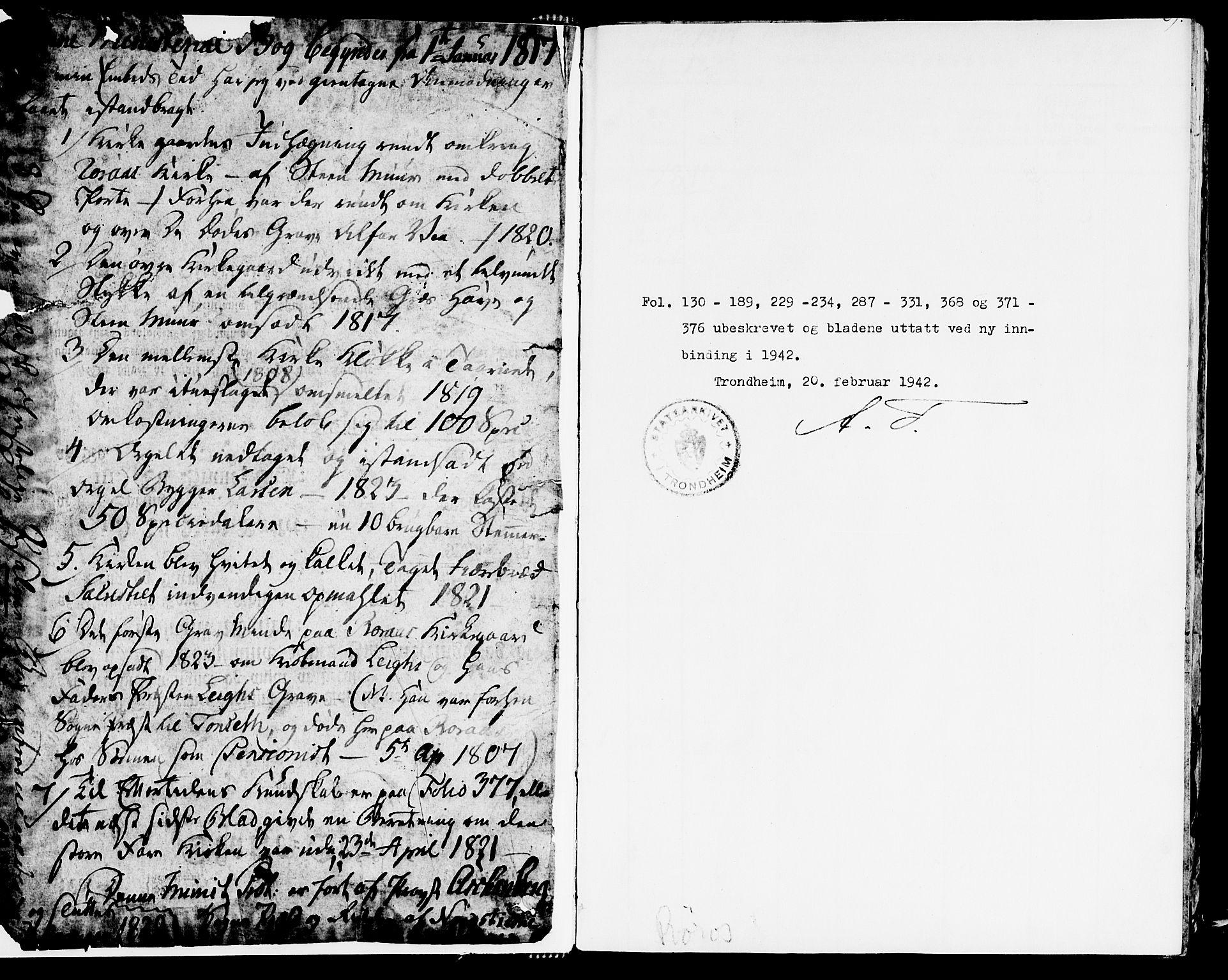 SAT, Ministerialprotokoller, klokkerbøker og fødselsregistre - Sør-Trøndelag, 681/L0929: Ministerialbok nr. 681A07, 1817-1828
