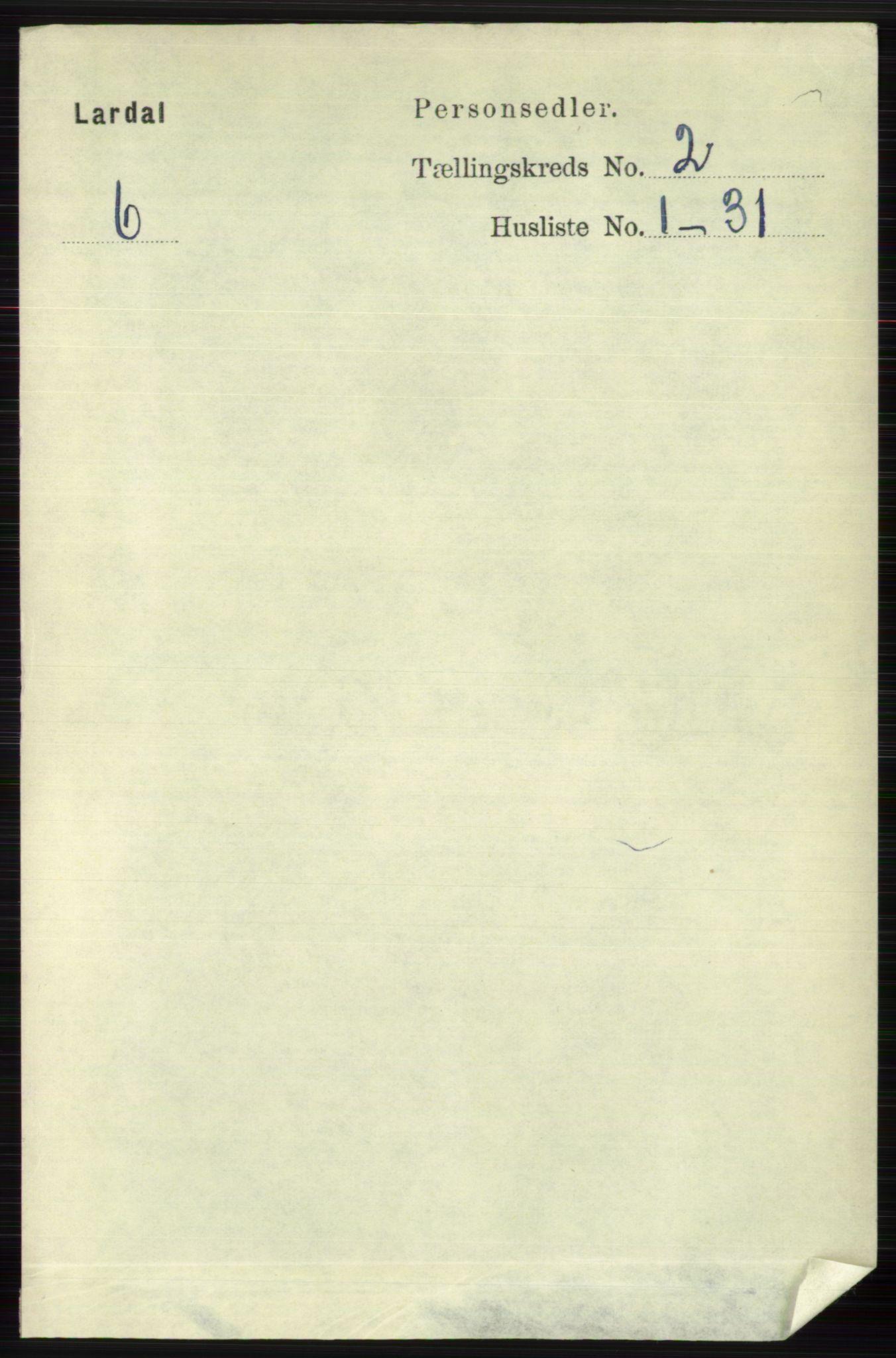 RA, Folketelling 1891 for 0728 Lardal herred, 1891, s. 726