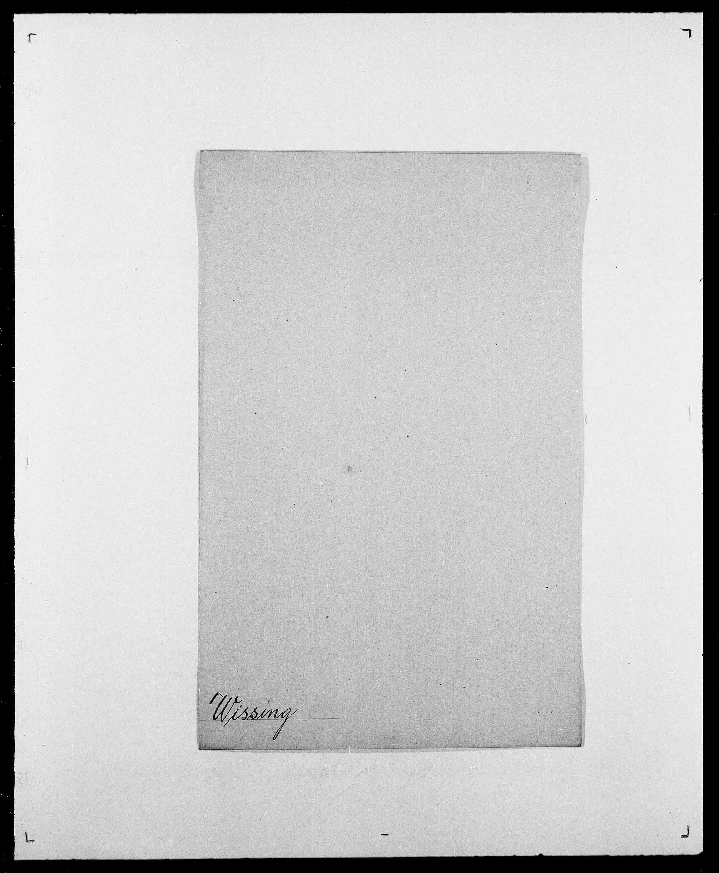 SAO, Delgobe, Charles Antoine - samling, D/Da/L0042: Vilain - Wulf, Wulff, se også Wolf, s. 409