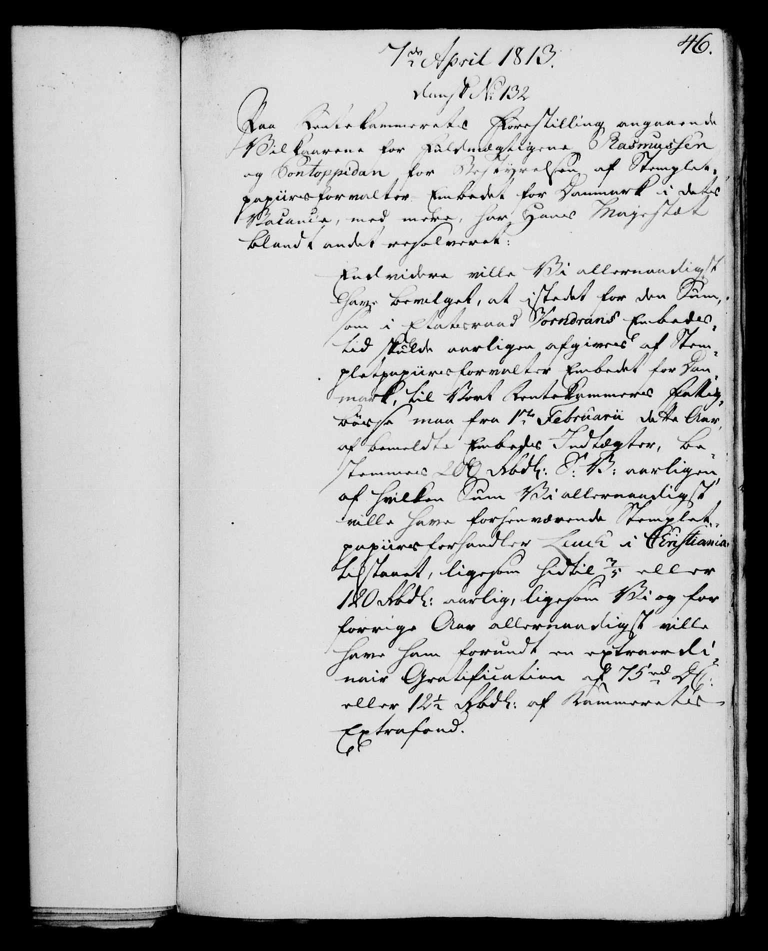 RA, Rentekammeret, Kammerkanselliet, G/Gf/Gfa/L0095: Norsk relasjons- og resolusjonsprotokoll (merket RK 52.95), 1813-1814, s. 187