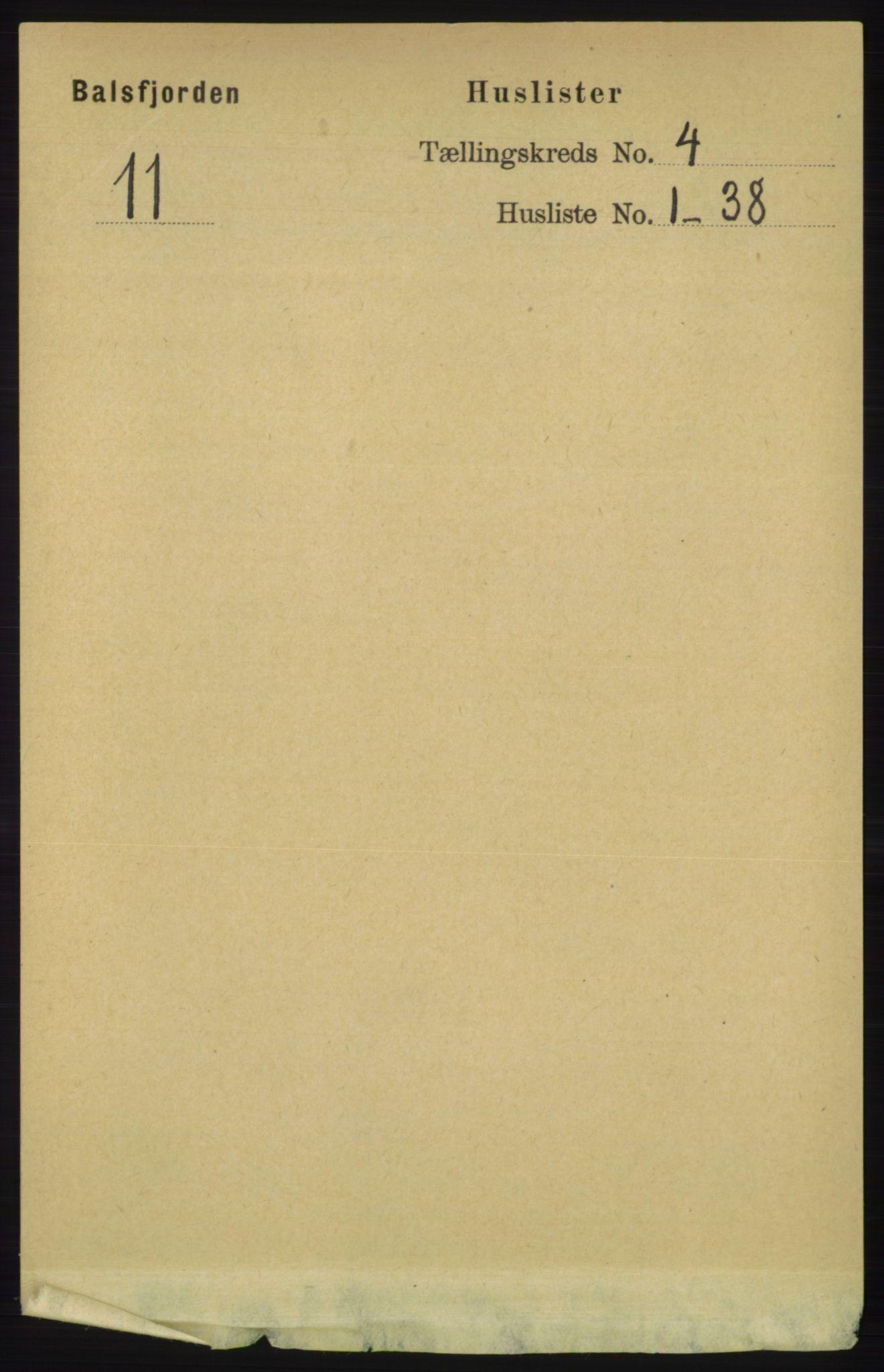 RA, Folketelling 1891 for 1933 Balsfjord herred, 1891, s. 1081