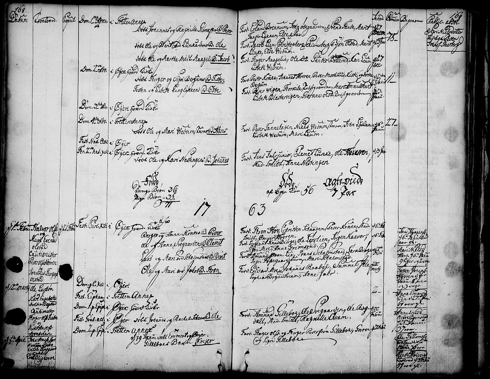 SAH, Øyer prestekontor, Ministerialbok nr. 2, 1733-1784, s. 168-169