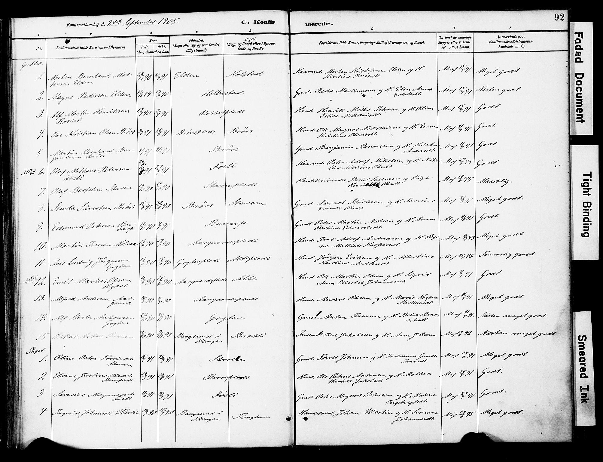 SAT, Ministerialprotokoller, klokkerbøker og fødselsregistre - Nord-Trøndelag, 742/L0409: Ministerialbok nr. 742A02, 1891-1905, s. 92