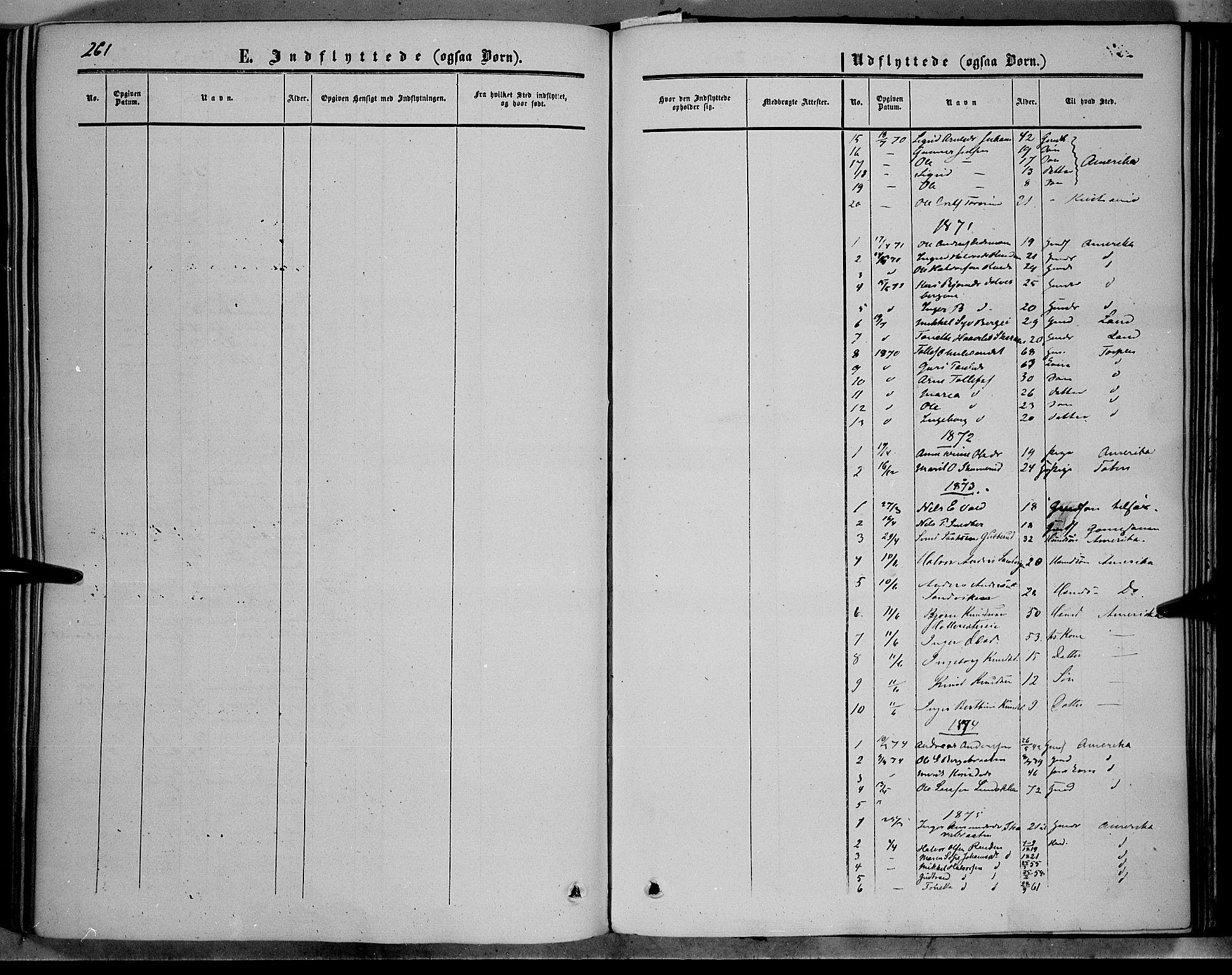SAH, Sør-Aurdal prestekontor, Ministerialbok nr. 5, 1849-1876, s. 261