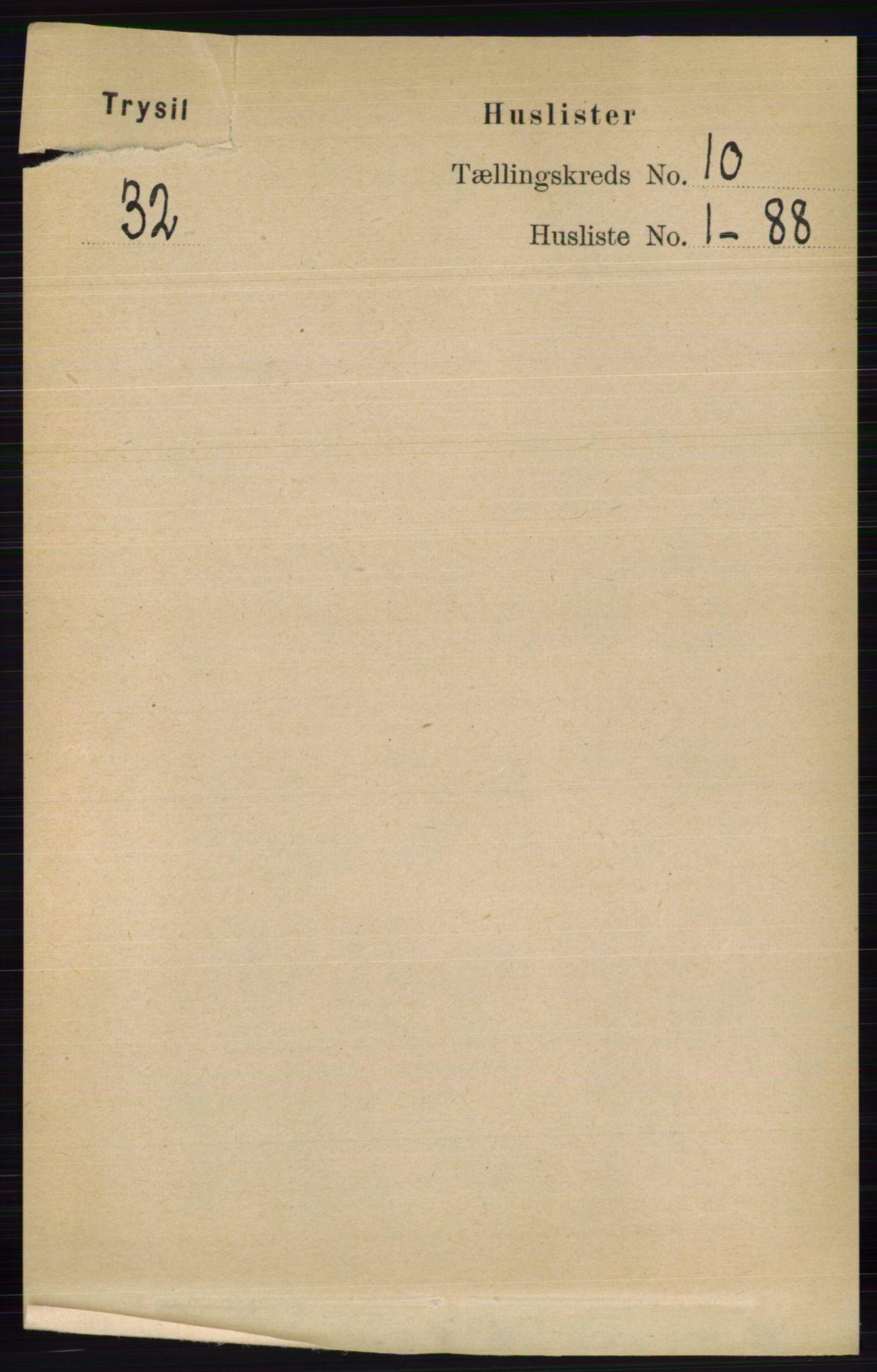 RA, Folketelling 1891 for 0428 Trysil herred, 1891, s. 4761