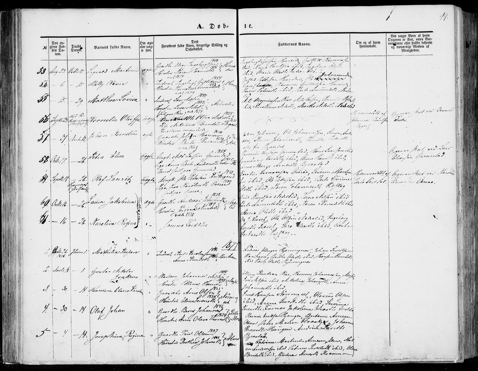 SAT, Ministerialprotokoller, klokkerbøker og fødselsregistre - Møre og Romsdal, 510/L0121: Ministerialbok nr. 510A01, 1848-1877, s. 99