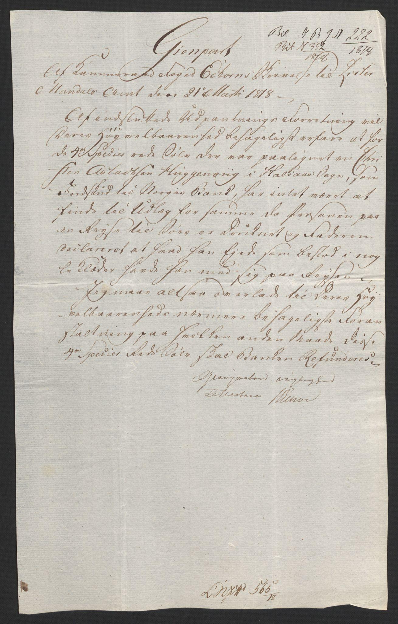 NOBA, Norges Bank/Sølvskatten 1816*, 1816-1822, s. 61