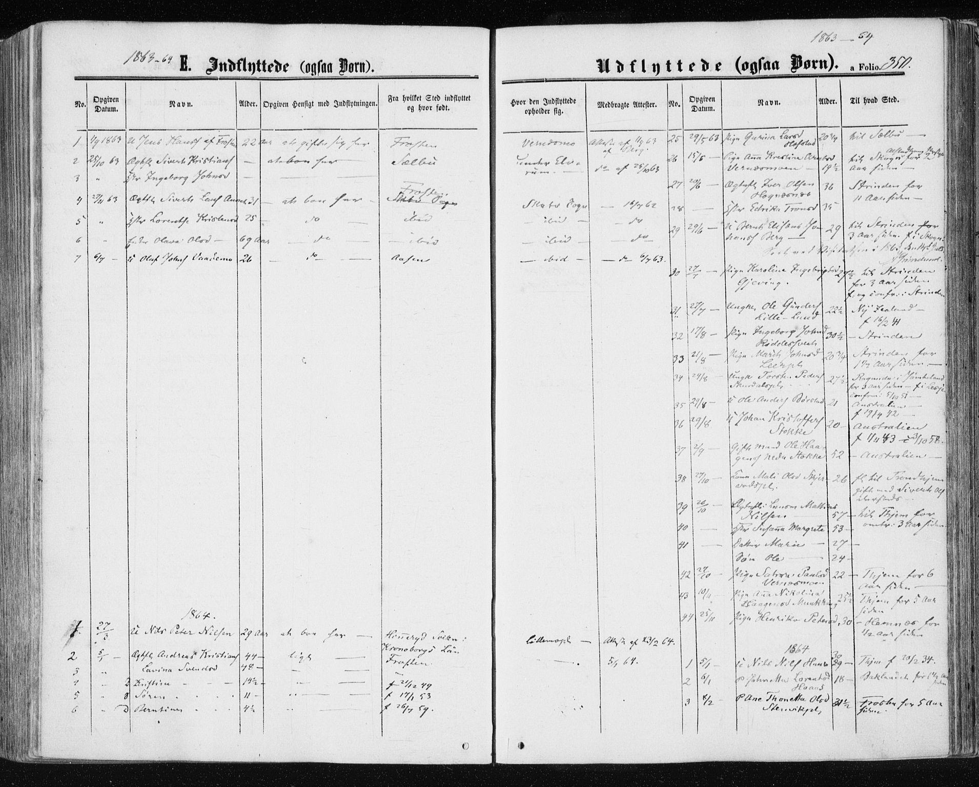 SAT, Ministerialprotokoller, klokkerbøker og fødselsregistre - Nord-Trøndelag, 709/L0075: Ministerialbok nr. 709A15, 1859-1870, s. 350