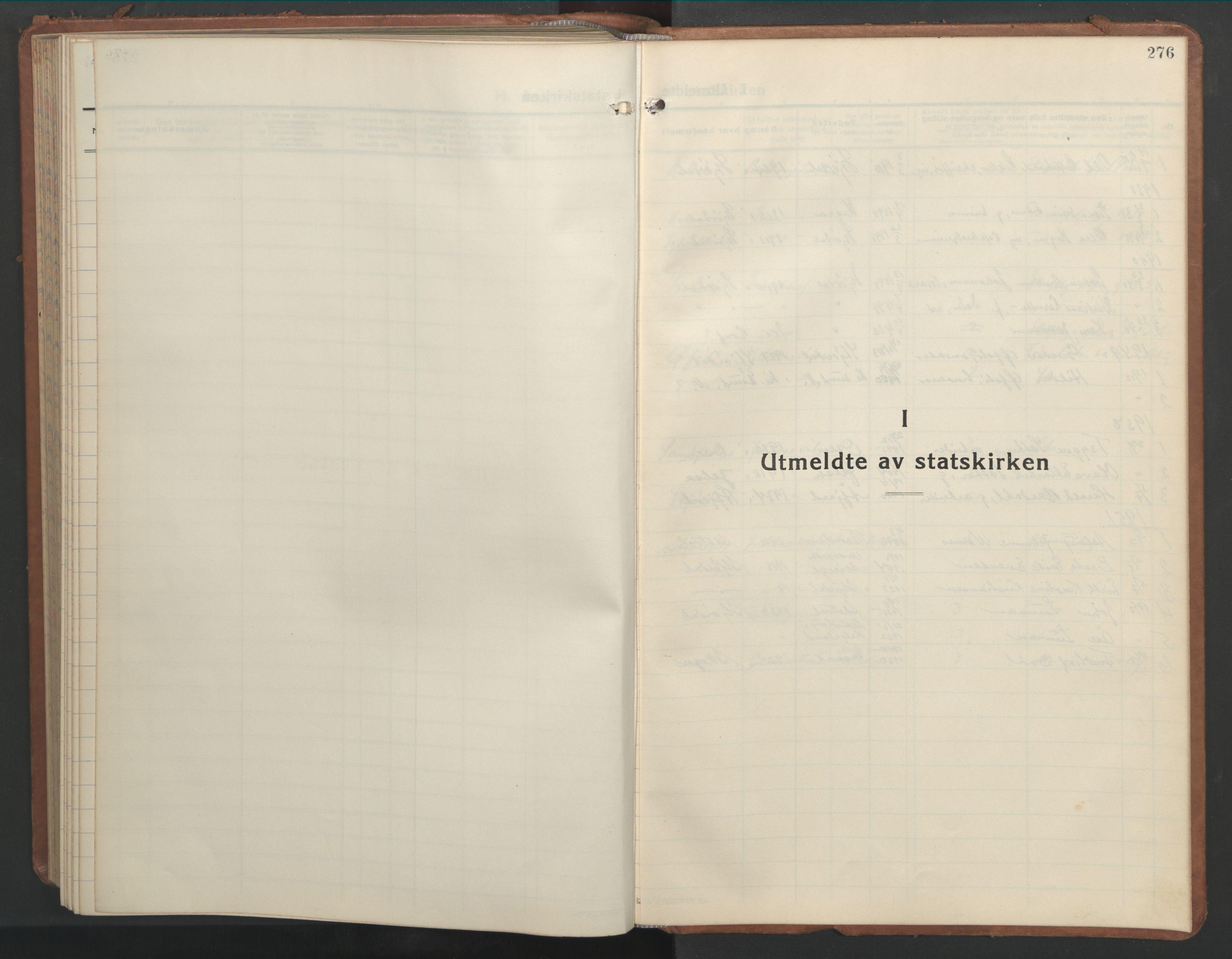 SAT, Ministerialprotokoller, klokkerbøker og fødselsregistre - Nord-Trøndelag, 709/L0089: Klokkerbok nr. 709C03, 1935-1948, s. 276