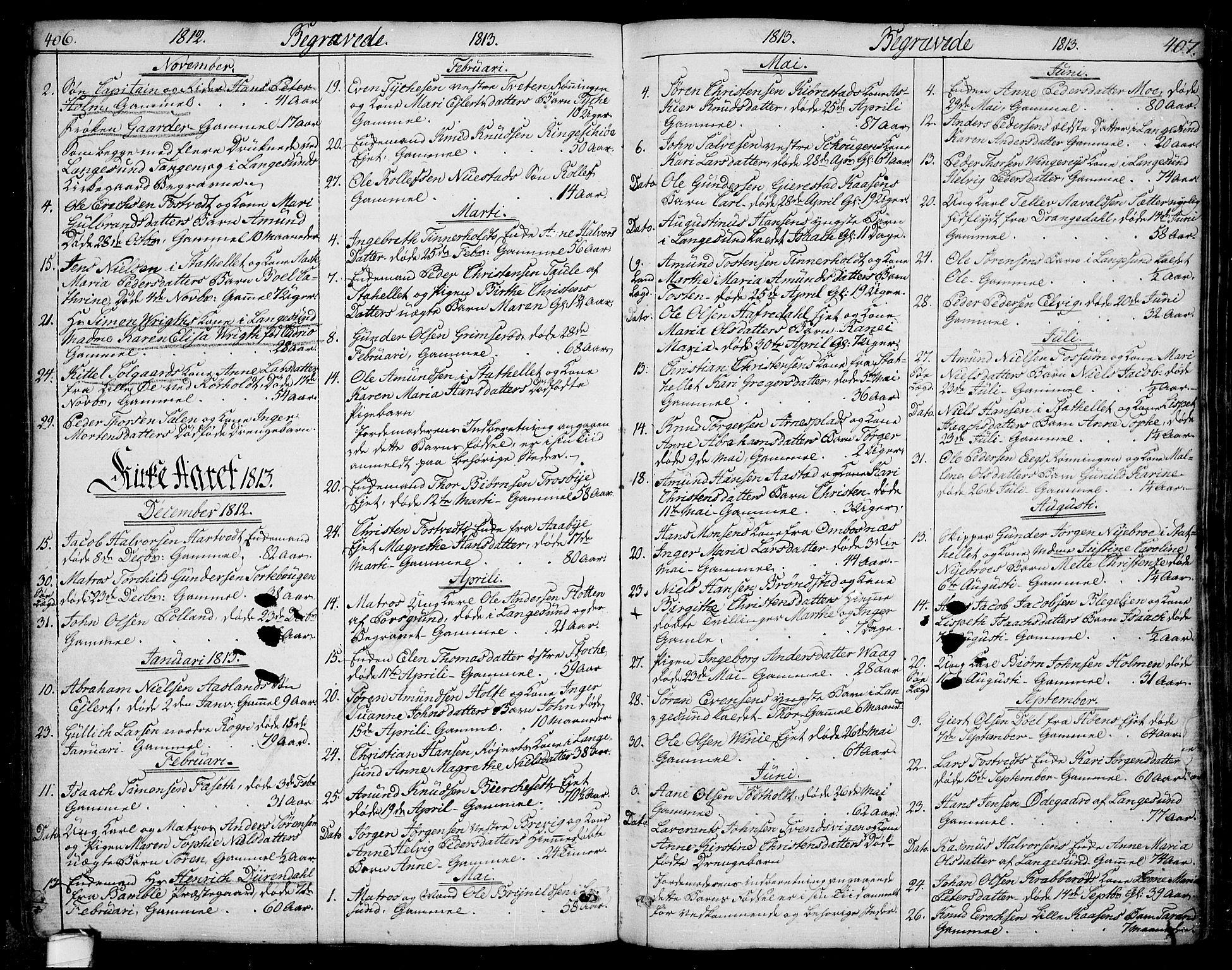 SAKO, Bamble kirkebøker, F/Fa/L0002: Ministerialbok nr. I 2, 1775-1814, s. 406-407