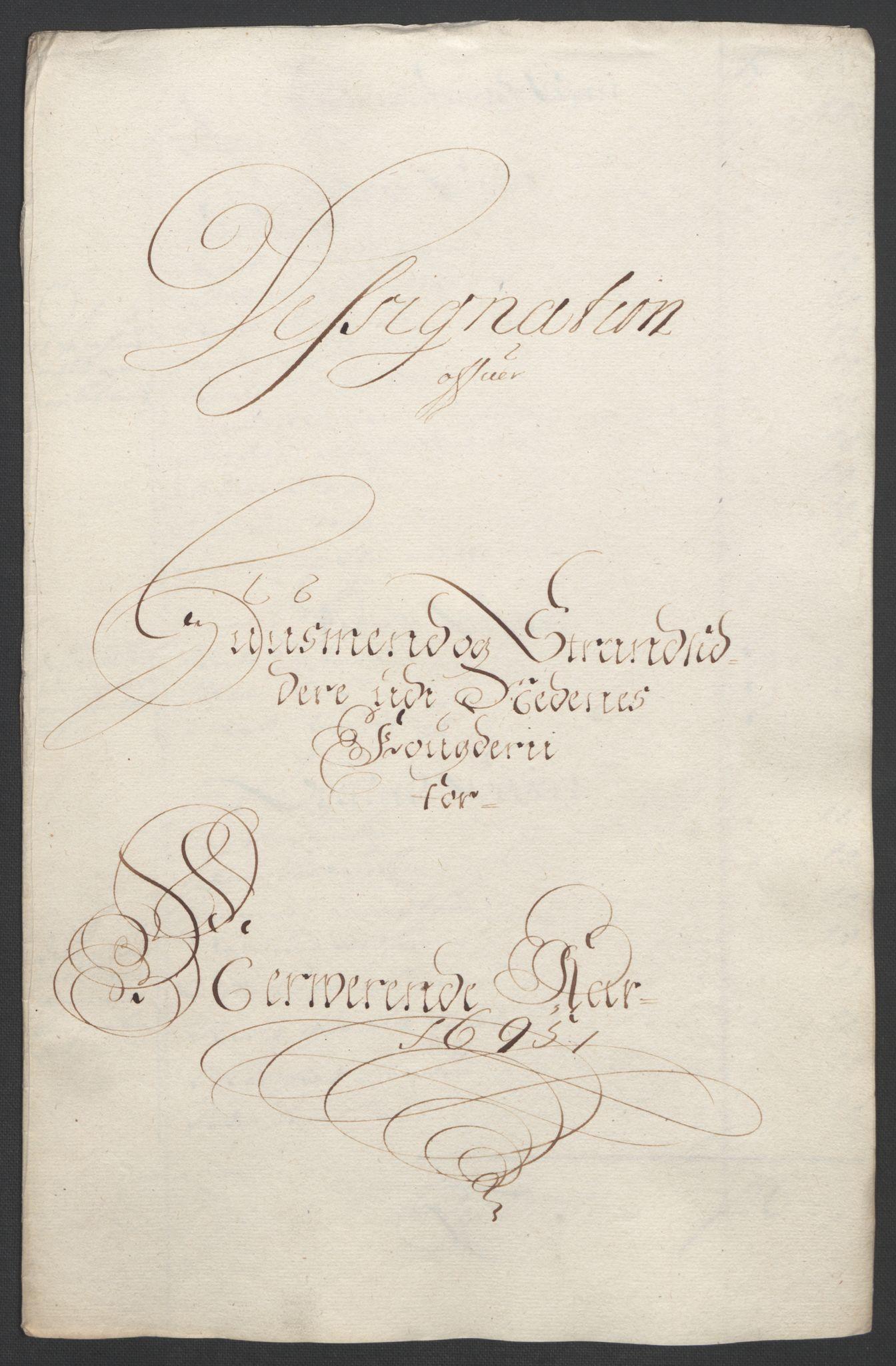 RA, Rentekammeret inntil 1814, Reviderte regnskaper, Fogderegnskap, R39/L2312: Fogderegnskap Nedenes, 1693-1695, s. 260