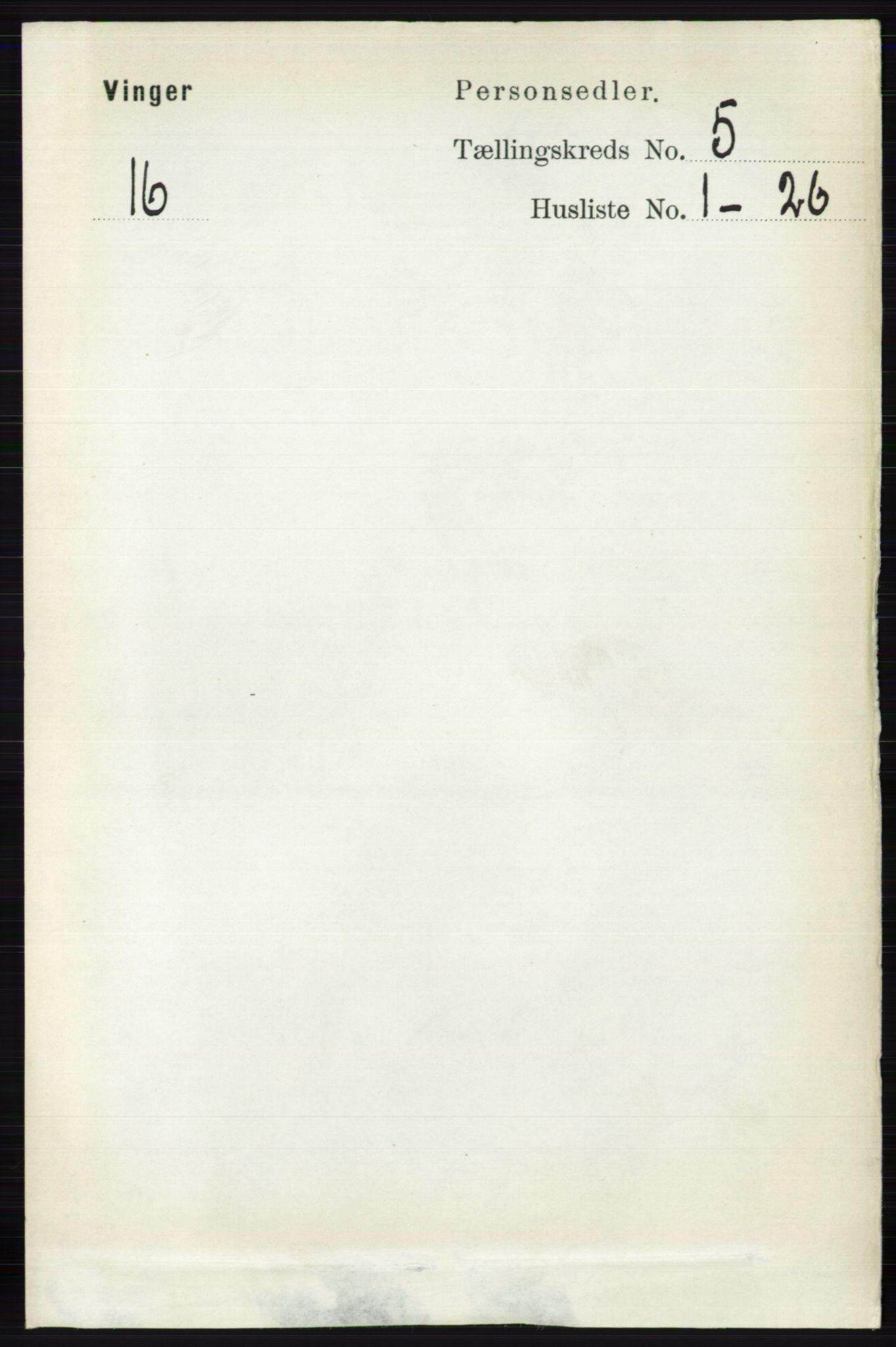 RA, Folketelling 1891 for 0421 Vinger herred, 1891, s. 2046