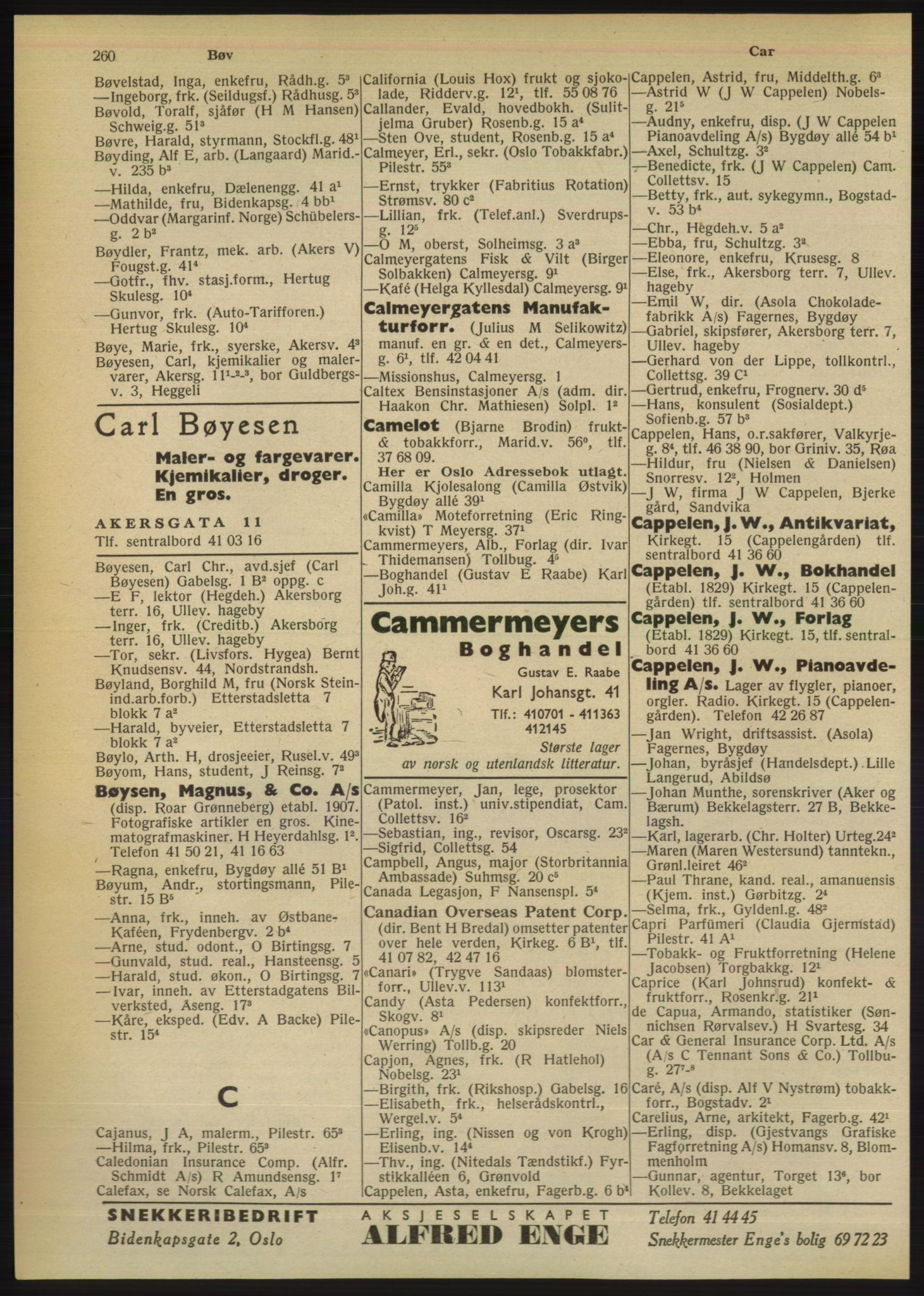 PUBL, Kristiania/Oslo adressebok, 1949, s. 260