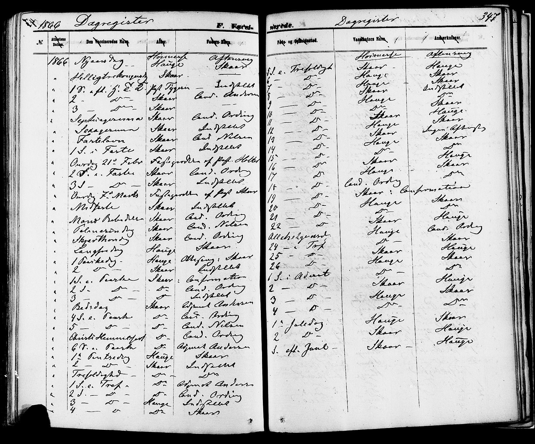 SAKO, Skien kirkebøker, F/Fa/L0008: Ministerialbok nr. 8, 1866-1877, s. 347
